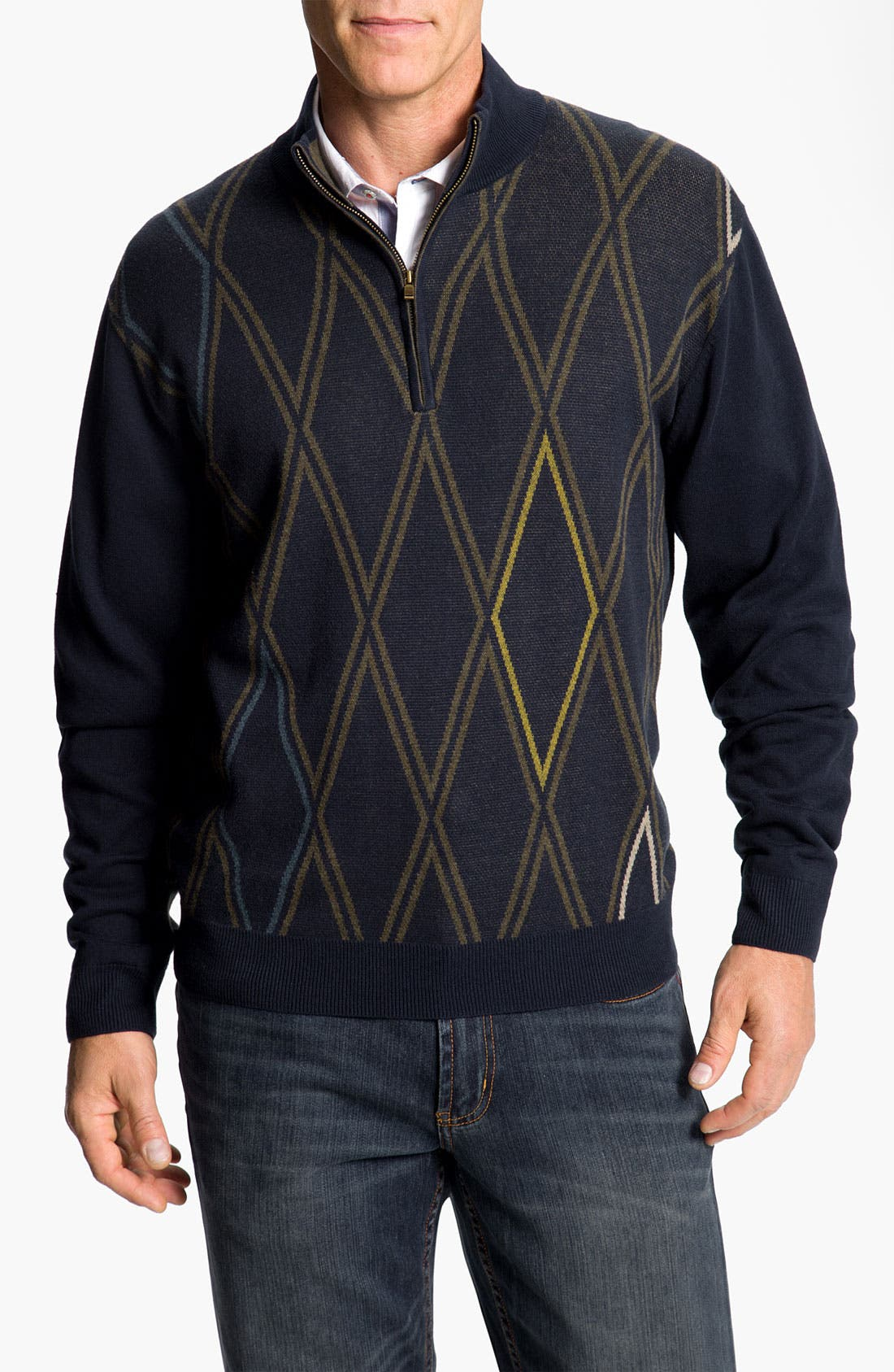 Alternate Image 1 Selected - Cutter & Buck 'Gorge' Half Zip Sweater (Big & Tall) (Online Exclusive)