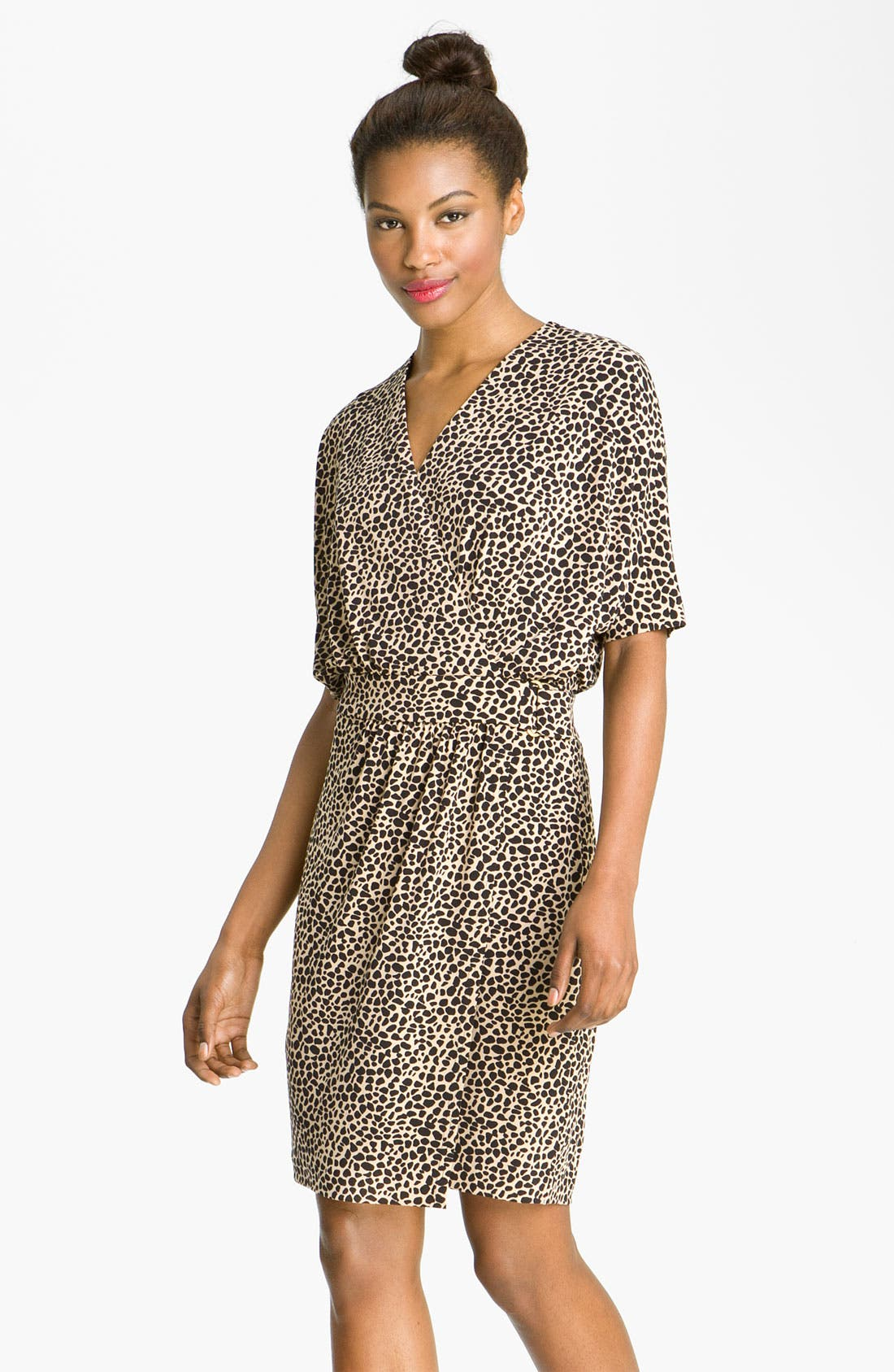 Alternate Image 1 Selected - Vince Camuto Dolman Sleeve Faux Wrap Dress