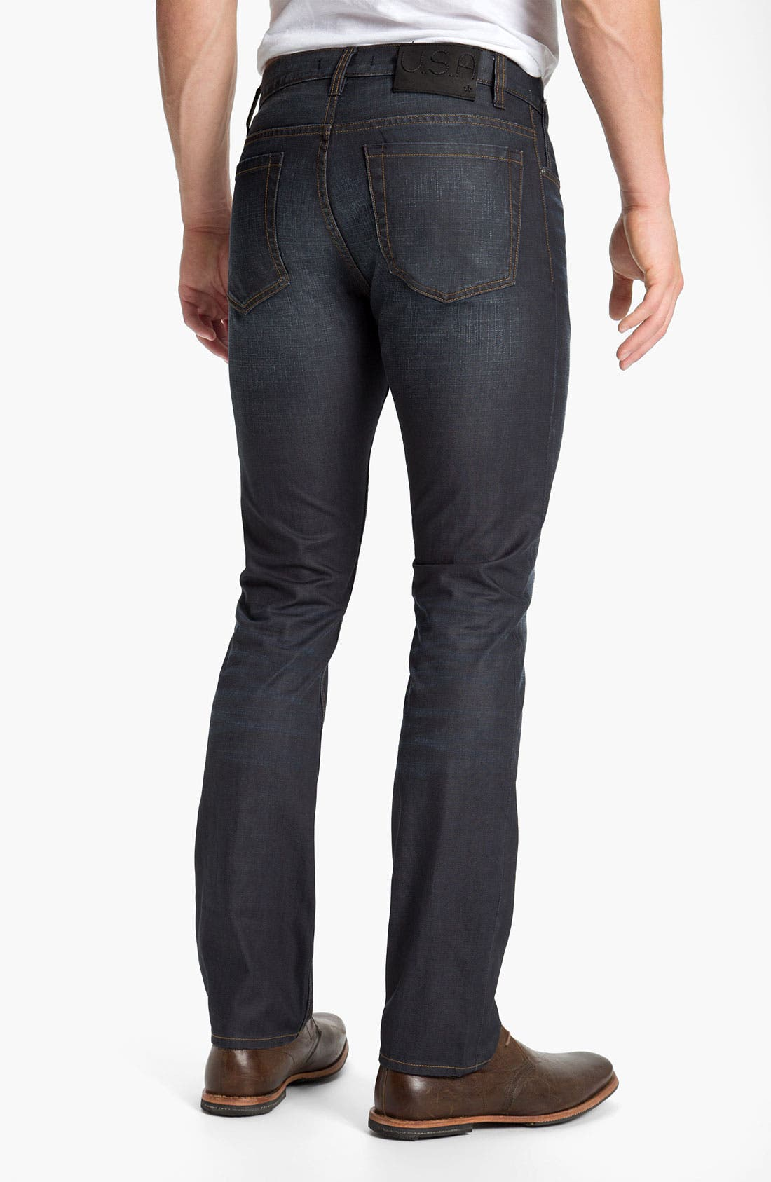 Alternate Image 2  - John Varvatos Star USA 'Bowery Brewester' Straight Leg Jeans (Oiled Blue)