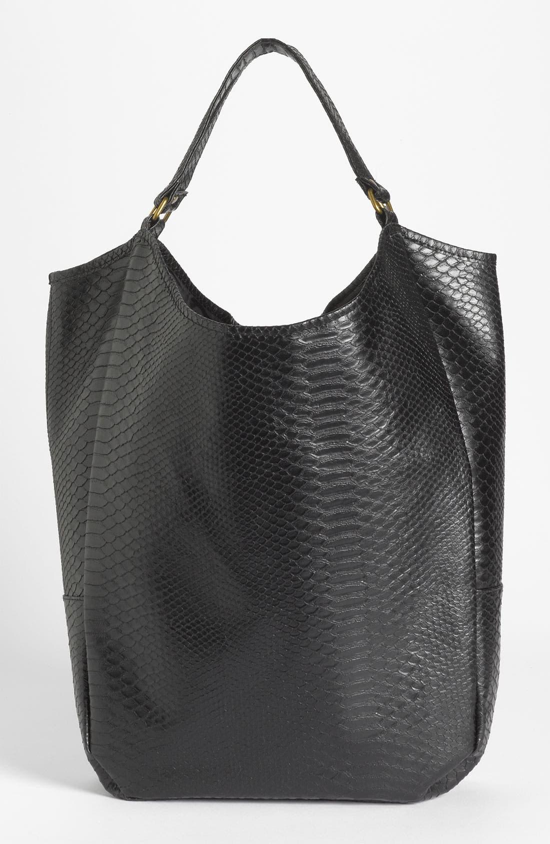 Alternate Image 4  - Lulu Snake Embossed Tote Bag