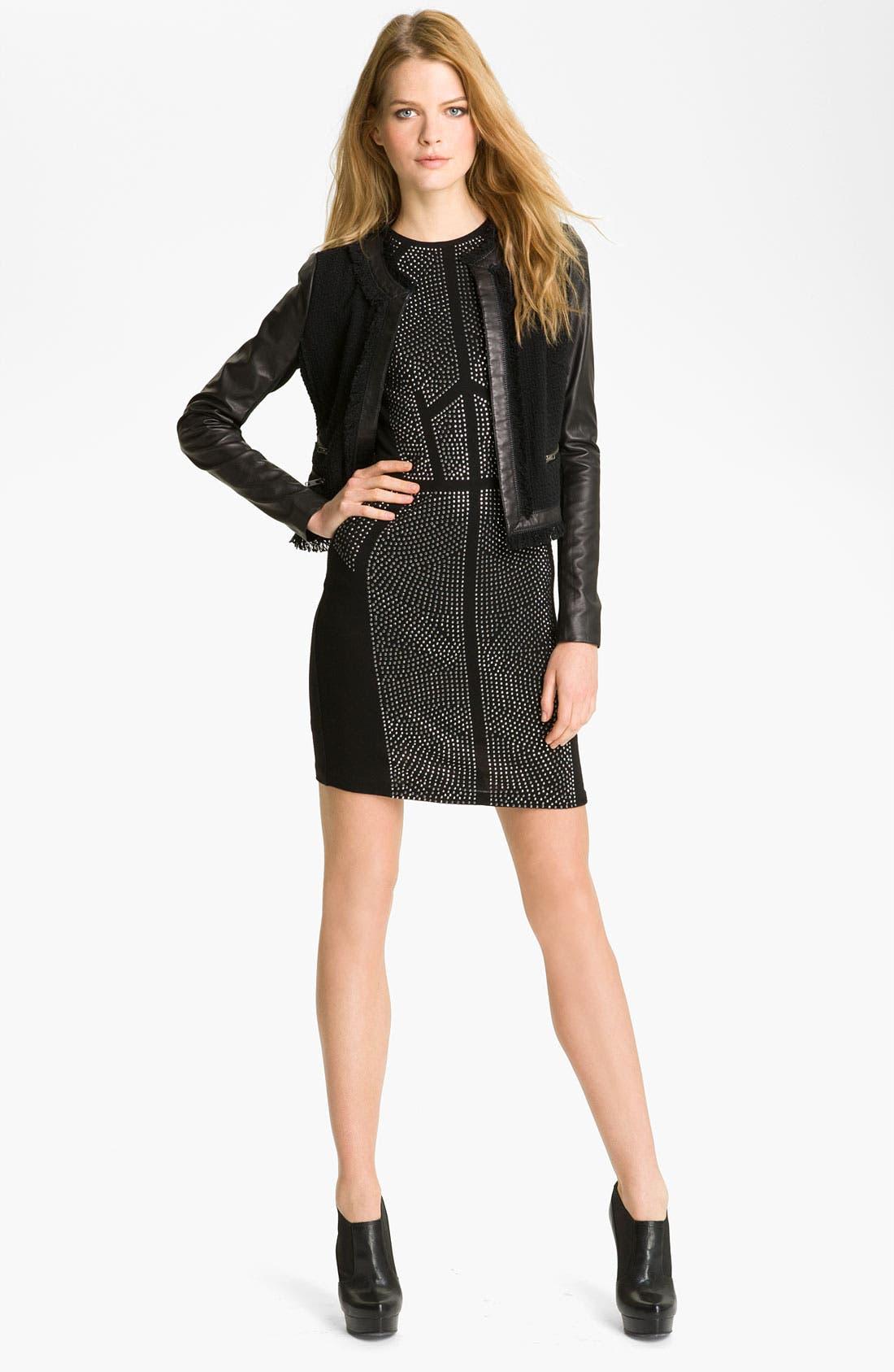 Alternate Image 4  - Rebecca Taylor Tweed & Leather Jacket