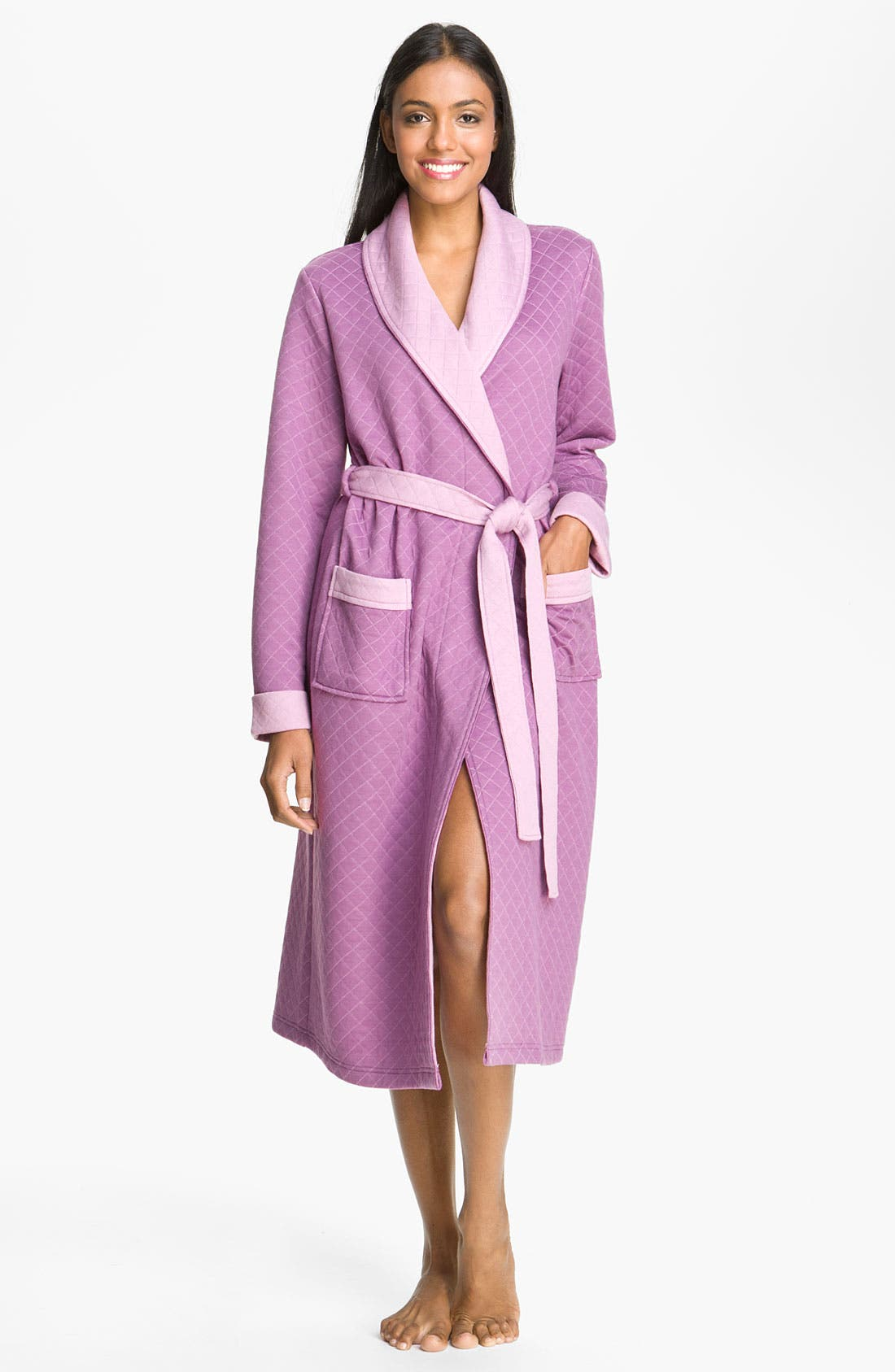 Alternate Image 1 Selected - Nordstrom Two Tone Quilted Robe