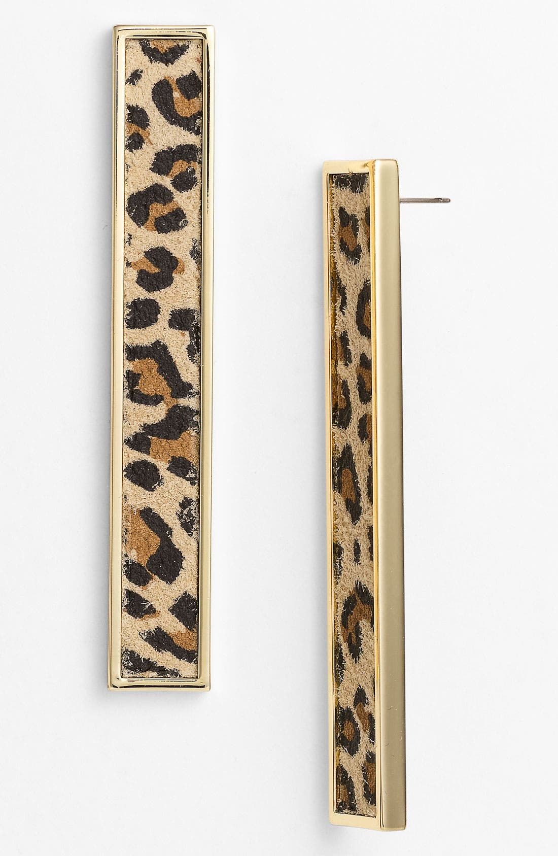 Main Image - Belle Noel Leopard Print Suede Statement Earrings