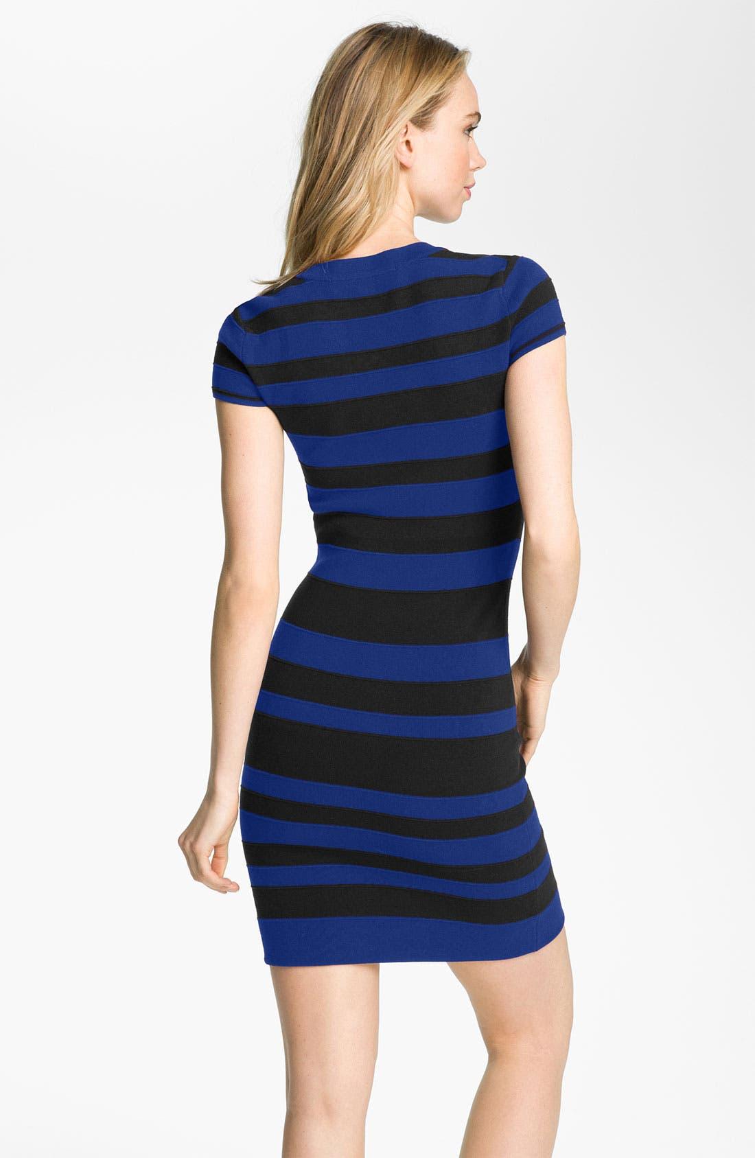 Alternate Image 2  - French Connection 'Bands of Color' Stripe Bandage Dress