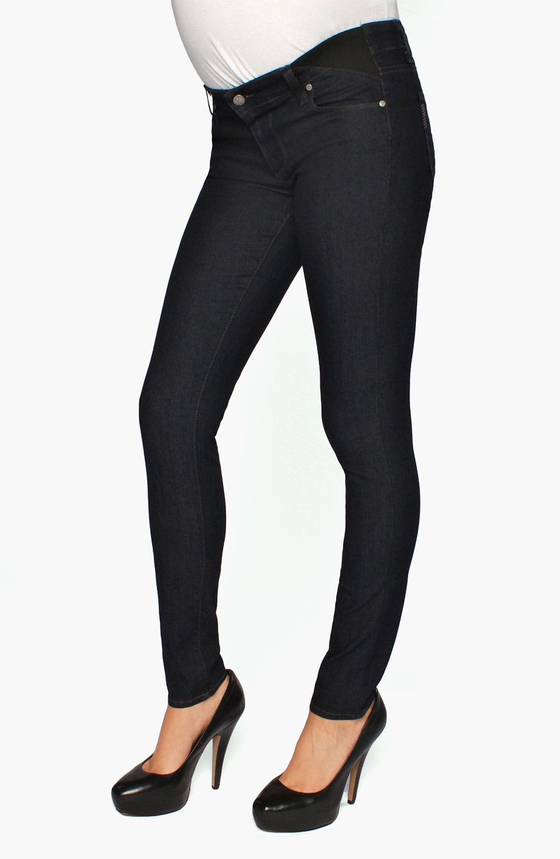 Alternate Image 2  - Paige Denim 'Verdugo' Maternity Ultra Skinny Jeans (Twilight)