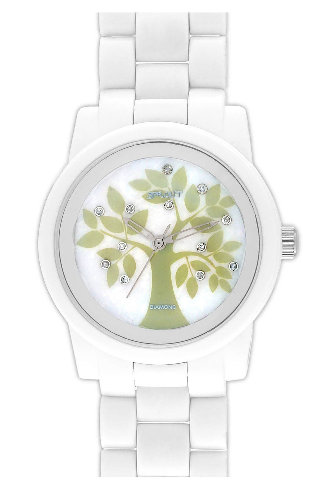 Alternate Image 1 Selected - SPROUT™ Watches Printed Diamond Dial Watch, 38mm