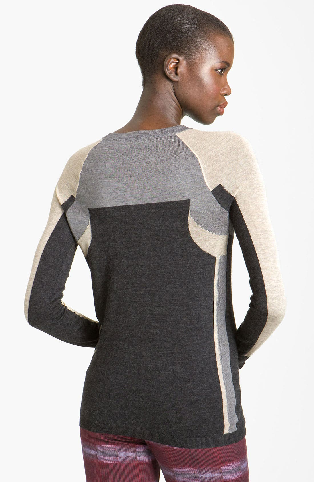 Alternate Image 2  - See by Chloé Colorblock Crewneck Sweater
