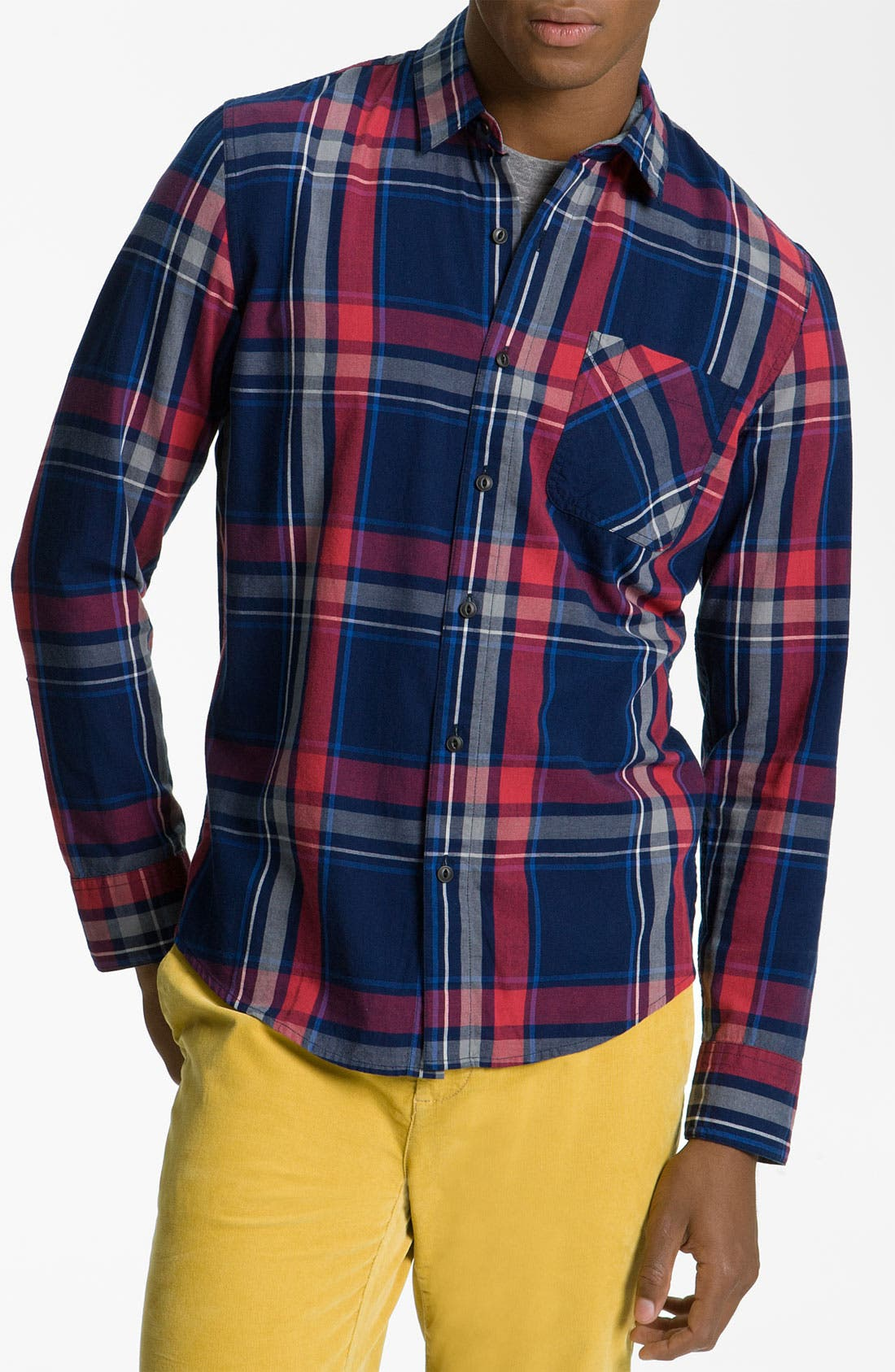Main Image - 1901 Yarn Dyed Plaid Woven Shirt