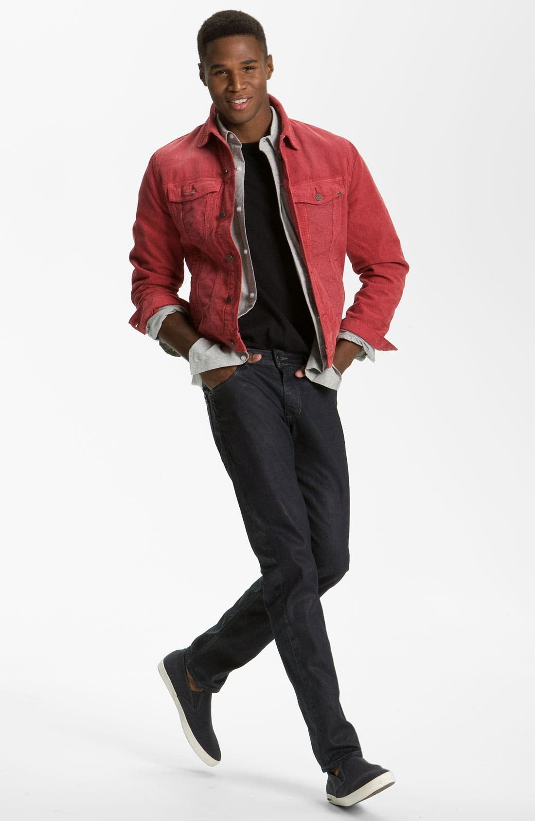 Alternate Image 5  - Levi's® '511™' Coated Slim Straight Leg Jeans (Dean)