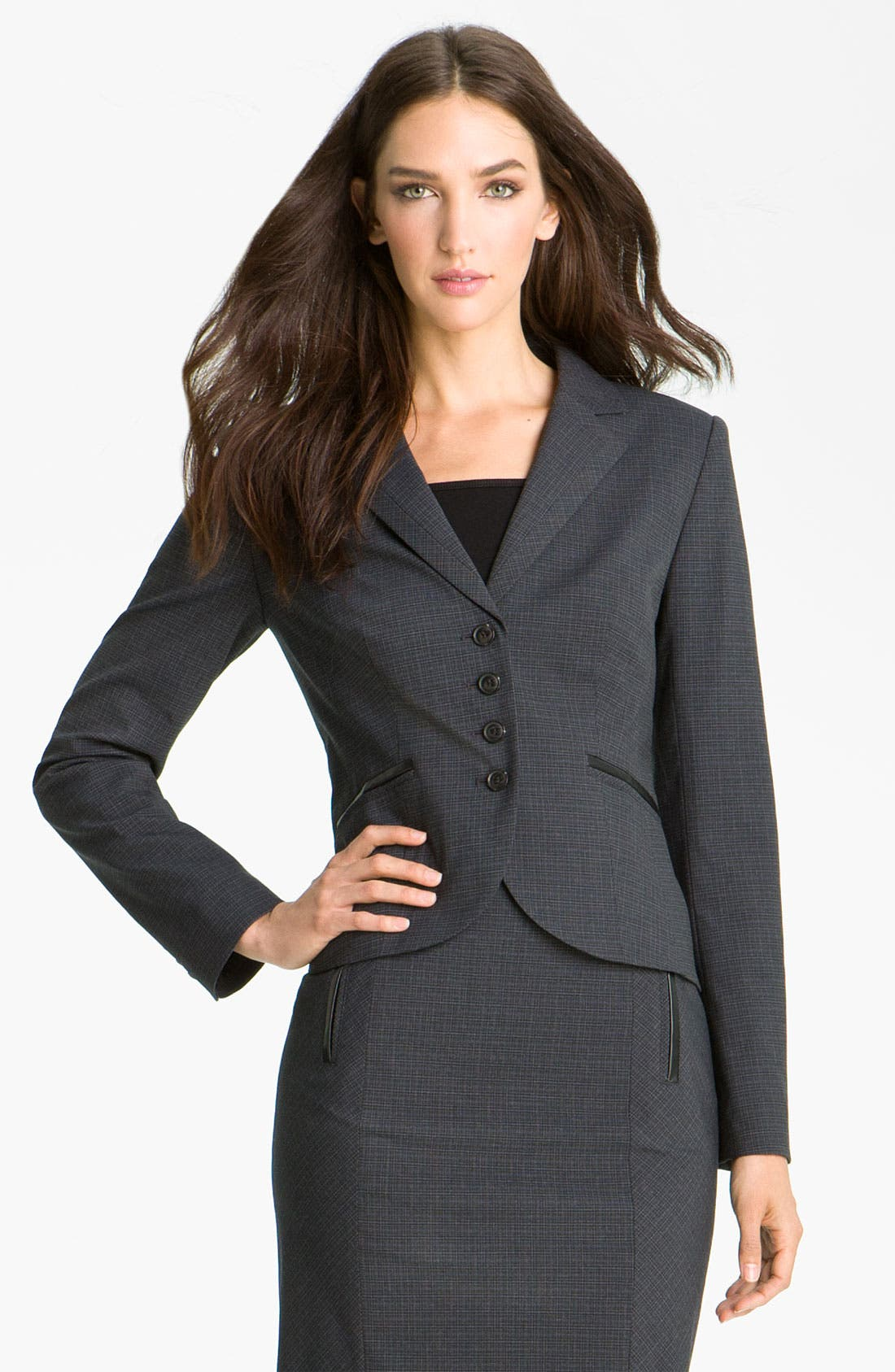 Main Image - Halogen® Double Check Pattern Jacket