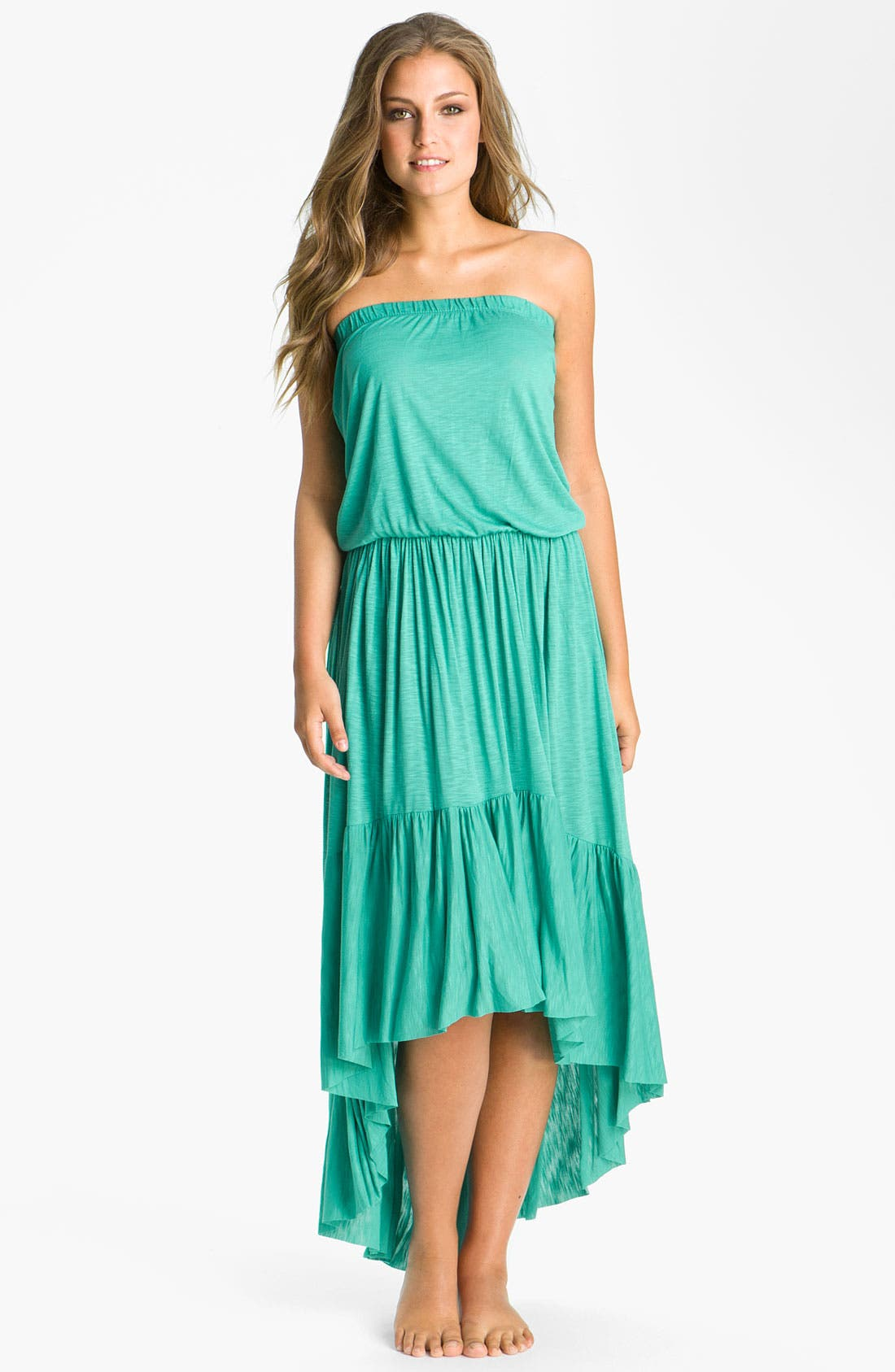 Main Image - Elan Strapless Cover-Up Maxi Dress