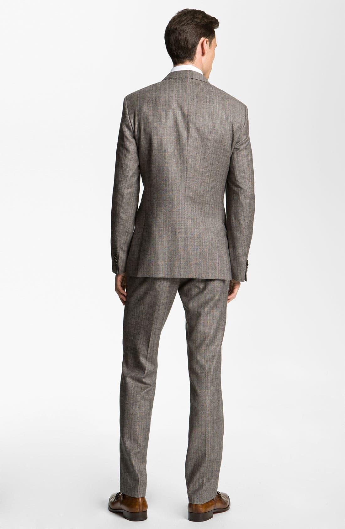 Alternate Image 3  - BOSS Black Suit & Dress Shirt