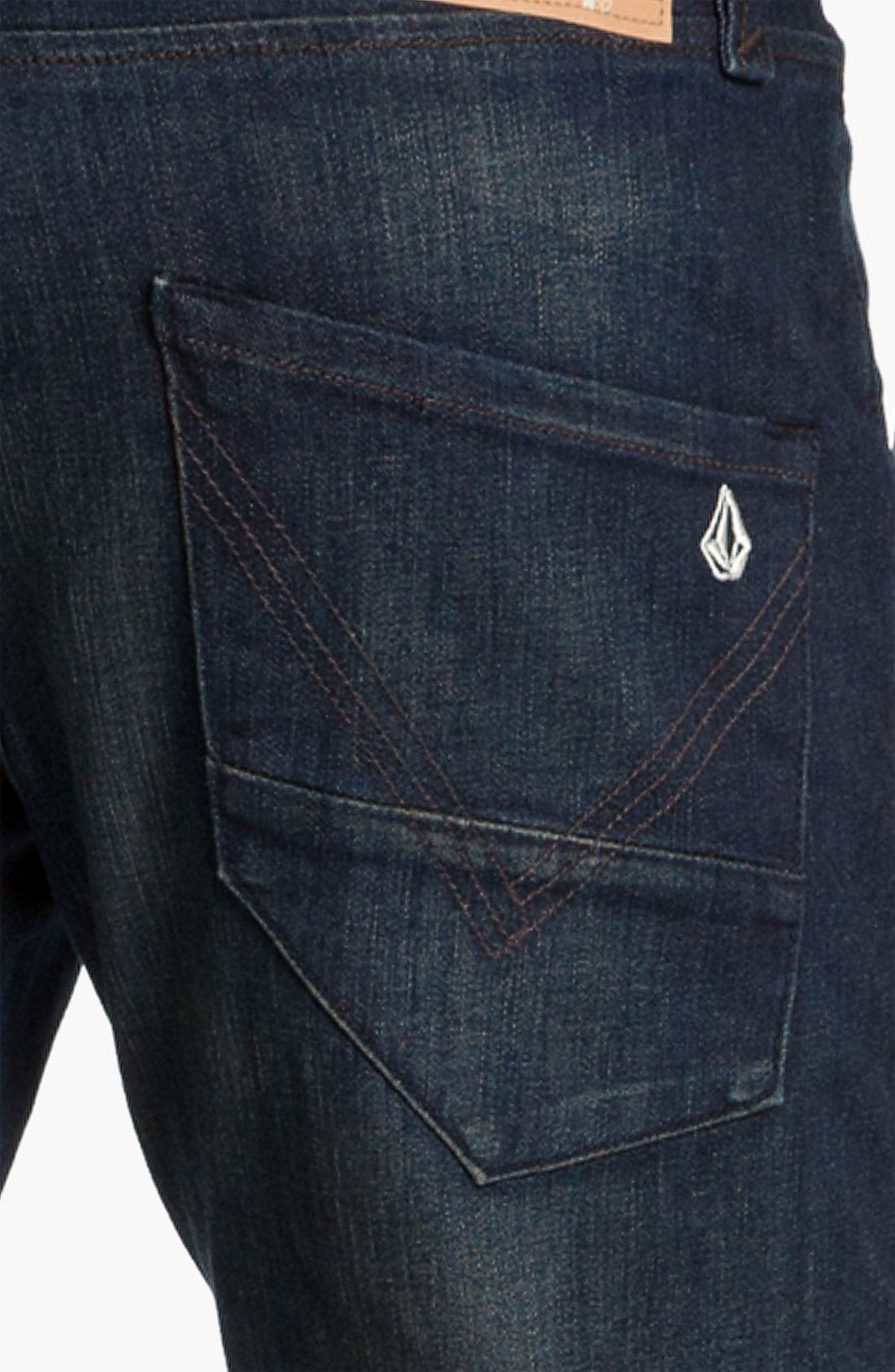 Alternate Image 4  - Volcom 'Nova' Slim Straight Leg Jeans (Dark Room Stretch) (Online Exclusive)