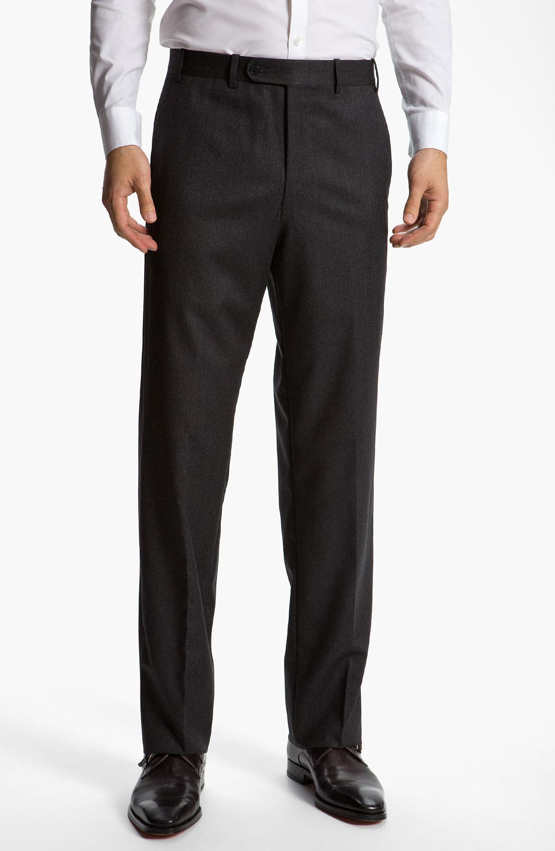 Main Image - JB Britches Flat Front Twill Trousers
