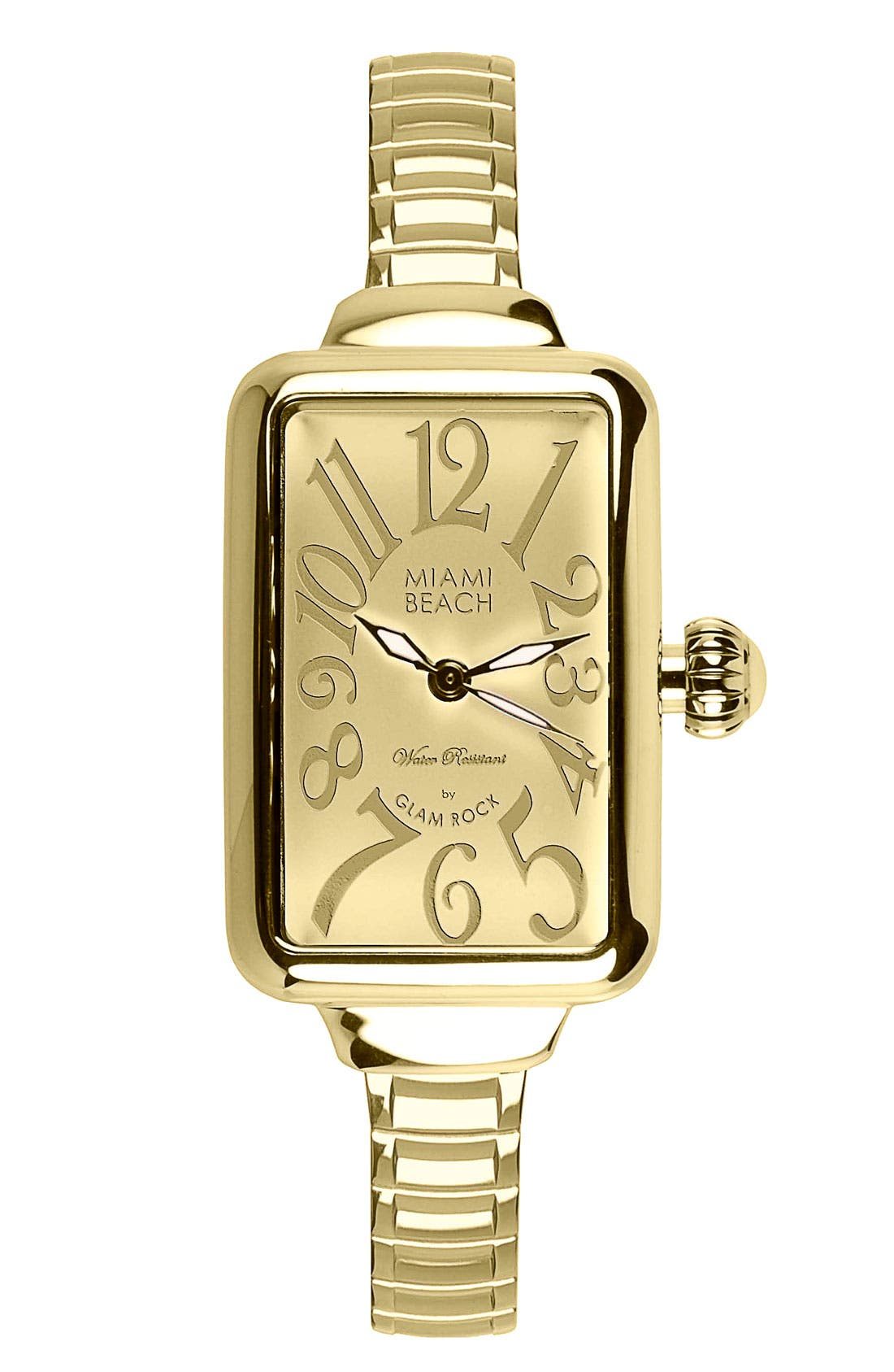 Alternate Image 1 Selected - Miami Beach by Glam Rock Rectangular Expansion Bracelet Watch
