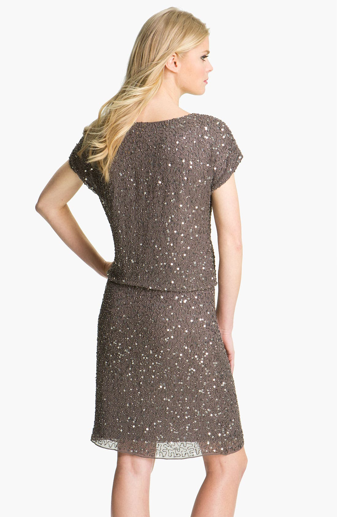 Alternate Image 2  - Pisarro Nights Cowl Neck Embellished Silk Dress
