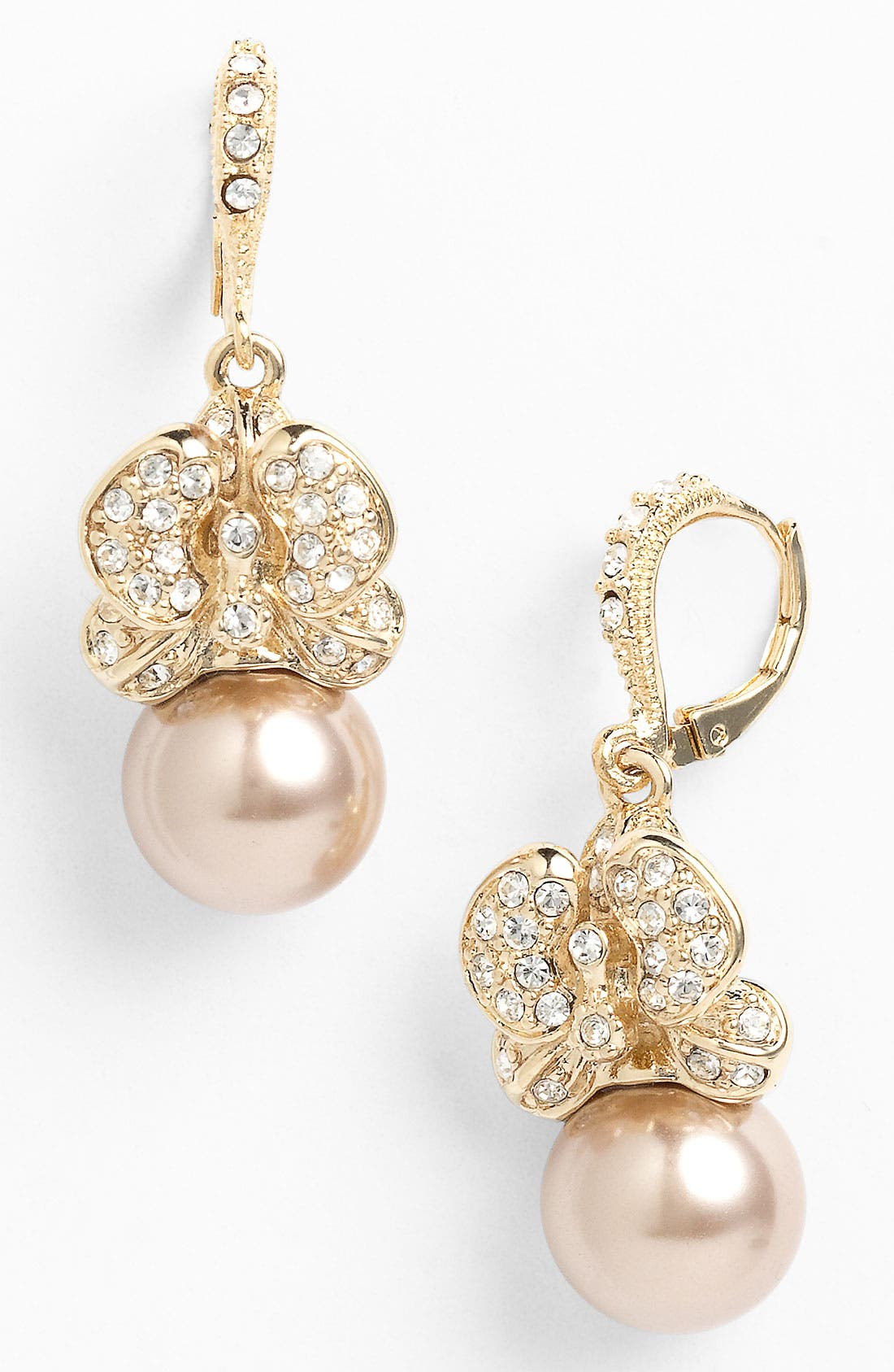 Main Image - Givenchy Crystal & Faux Pearl Drop Earrings