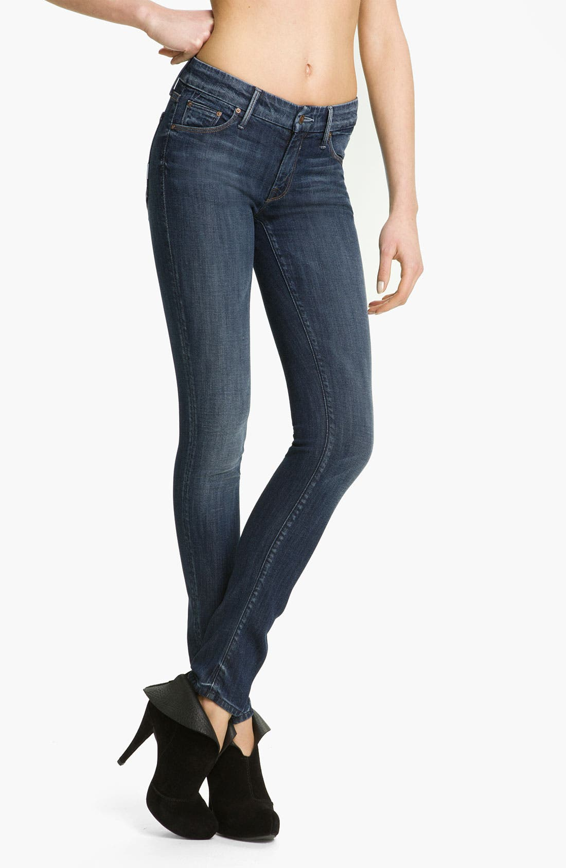 Main Image - MOTHER 'The Looker' Skinny Stretch Jeans (Deja Vu)