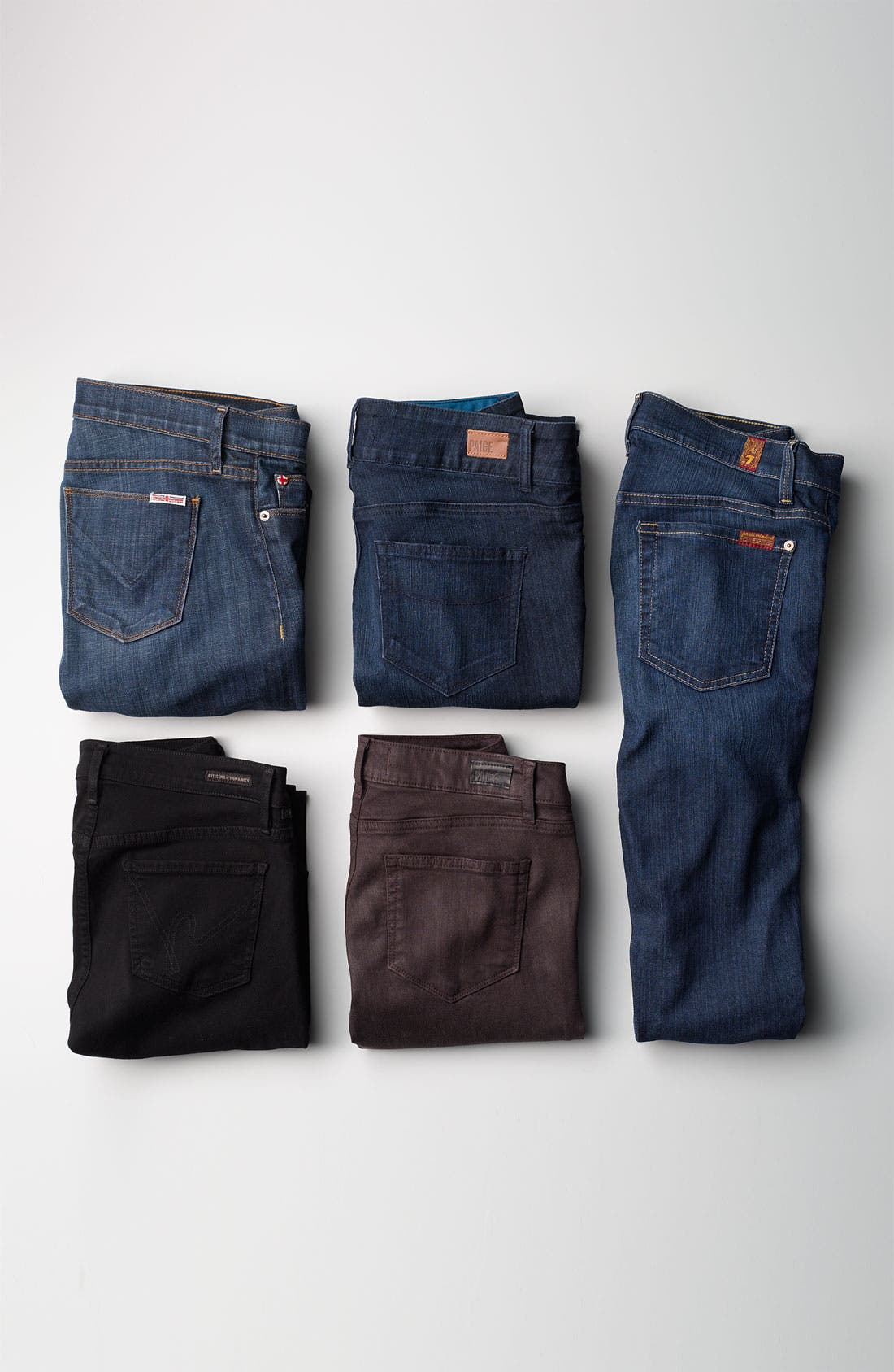 Alternate Image 5  - 7 For All Mankind® 'The Skinny' Stretch Jeans (Rich Warm Blue) (Online Exclusive)