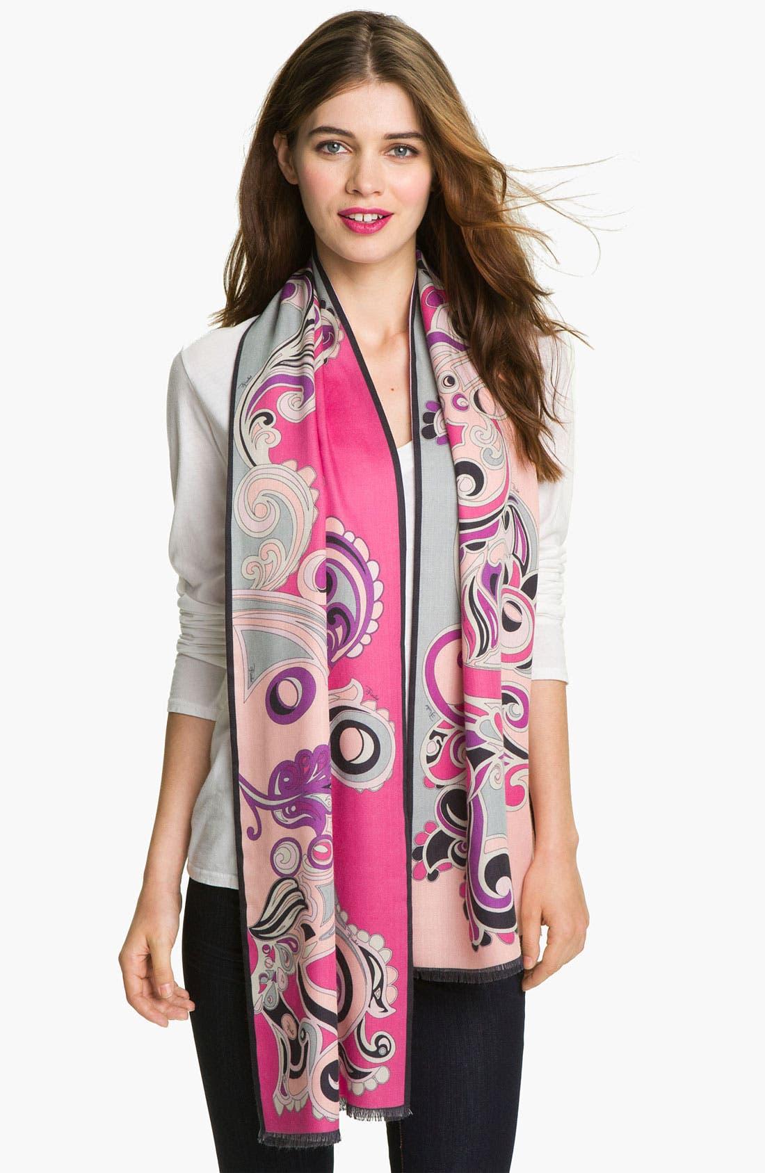 Alternate Image 1 Selected - Emilio Pucci Wool & Silk Scarf
