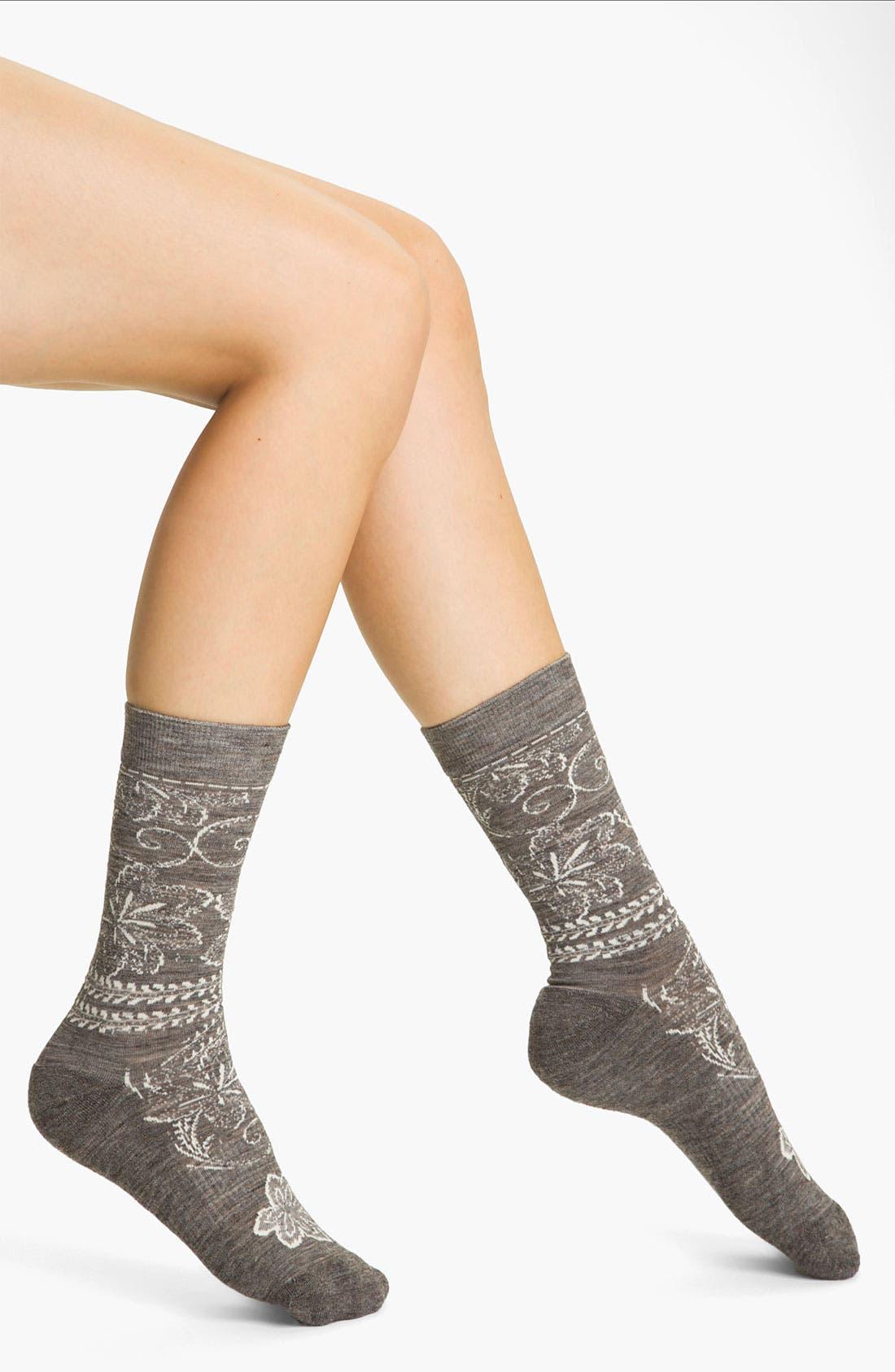 Alternate Image 1 Selected - Smartwool 'Floral Scroll' Socks