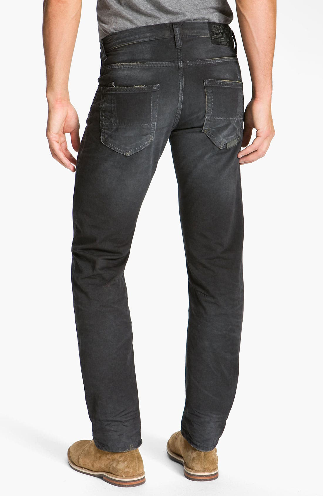 Main Image - PRPS 'Rambler' Slim Straight Leg Jeans (Black)