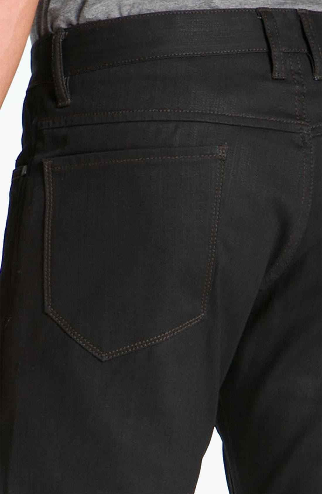 Alternate Image 4  - Comune 'Rudy' Coated Slim Straight Leg Jeans (Black Indigo)