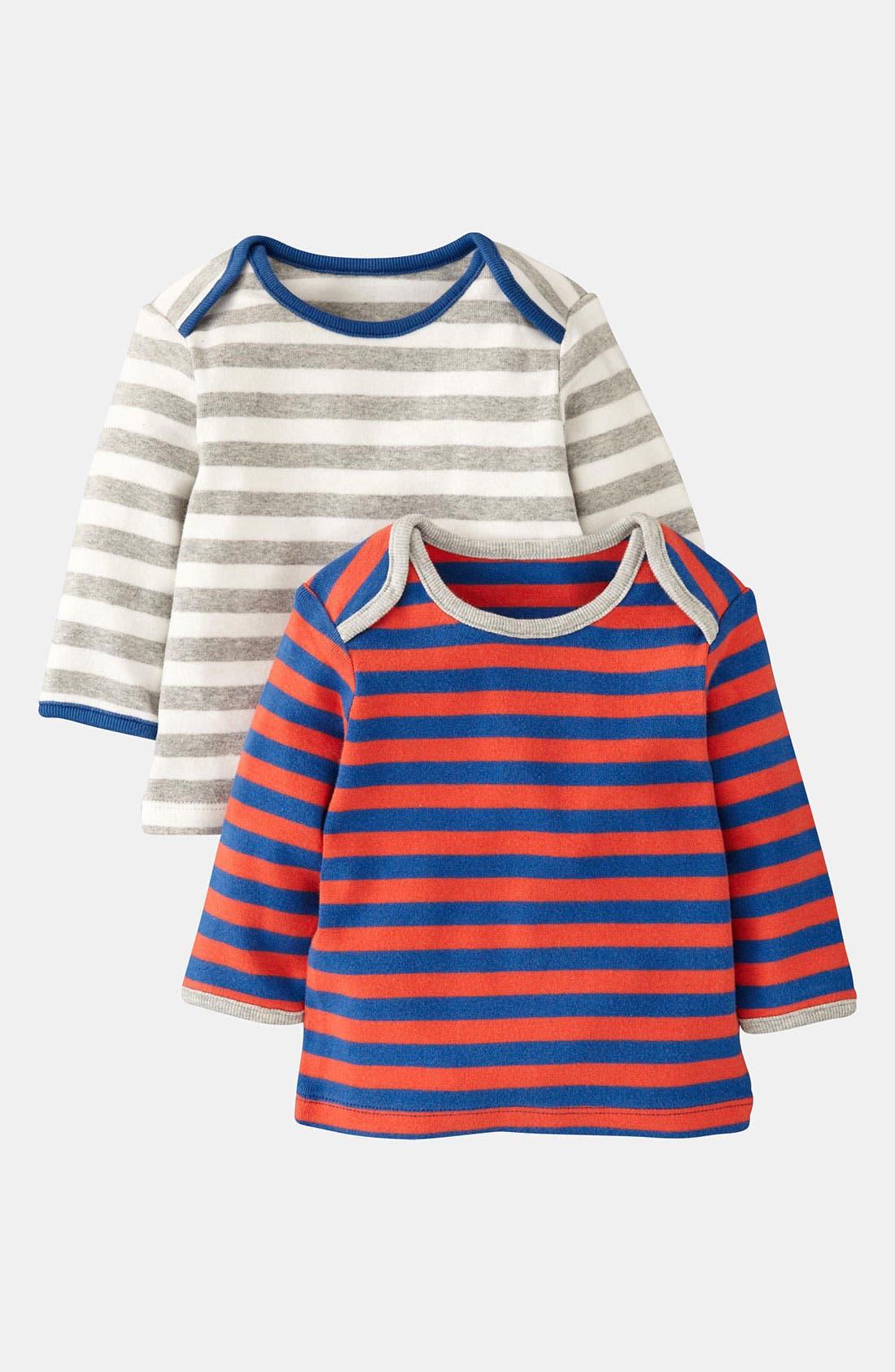 Alternate Image 1 Selected - Mini Boden Stripe T-Shirt (2-Pack) (Infant)