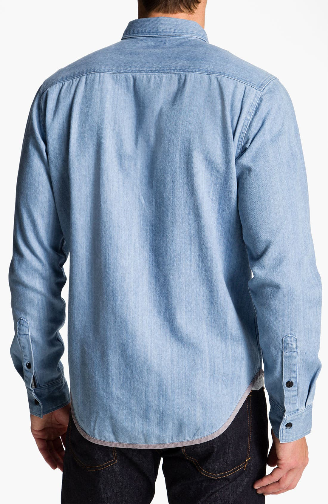 Alternate Image 2  - RVCA 'Bound' Chambray Woven Shirt