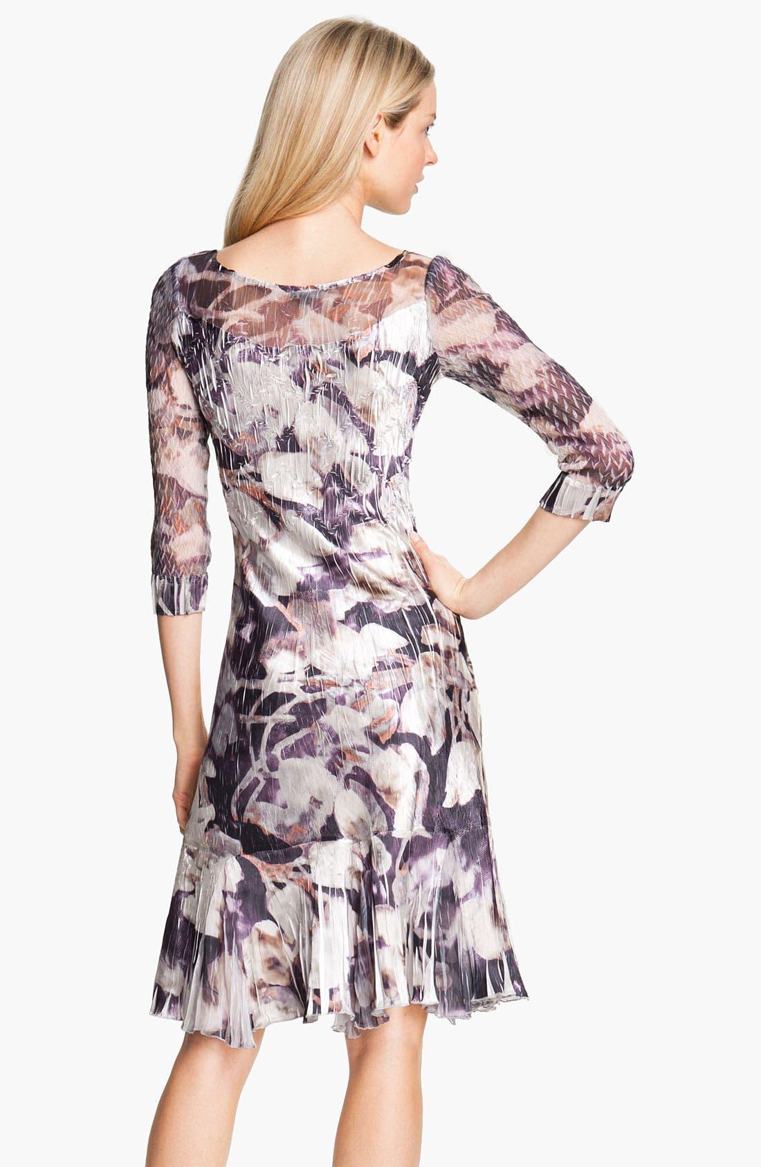 Alternate Image 2  - Komarov Floral Print Crinkle Charmeuse Dress