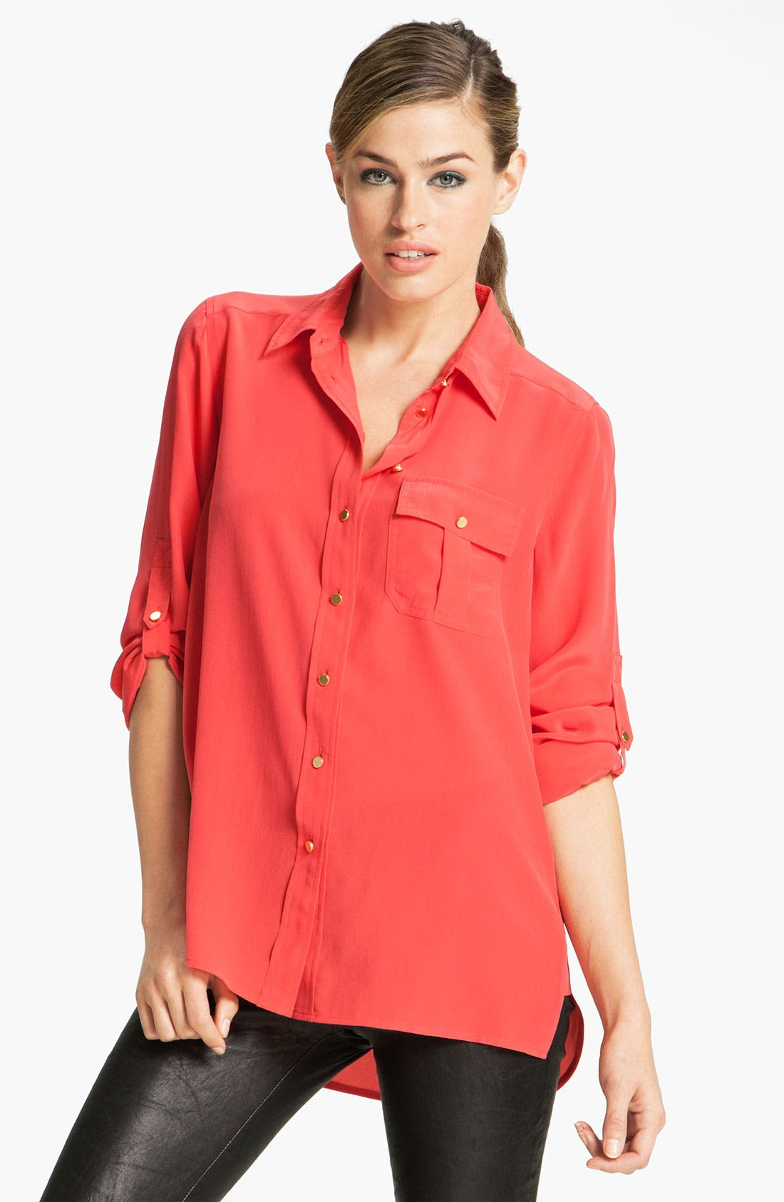 Main Image - MARC BY MARC JACOBS 'Erin' Oversized Silk Shirt