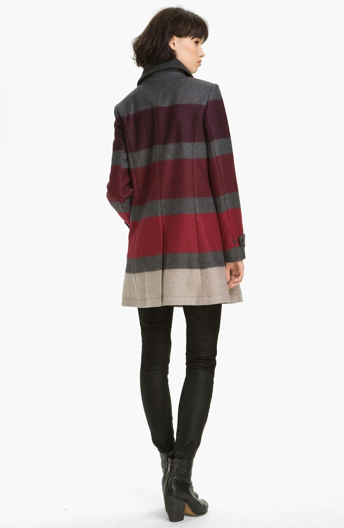 Alternate Image 2  - rag & bone 'Rochelle' Stripe Wool Blend Coat