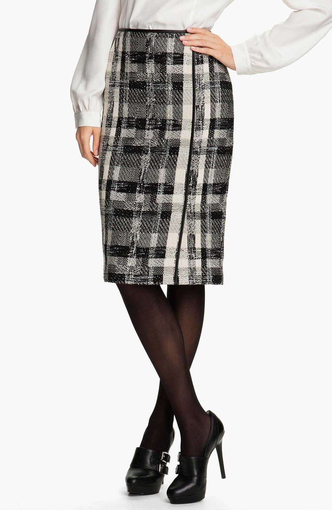 Main Image - Lafayette 148 New York Fragmented Tweed Skirt