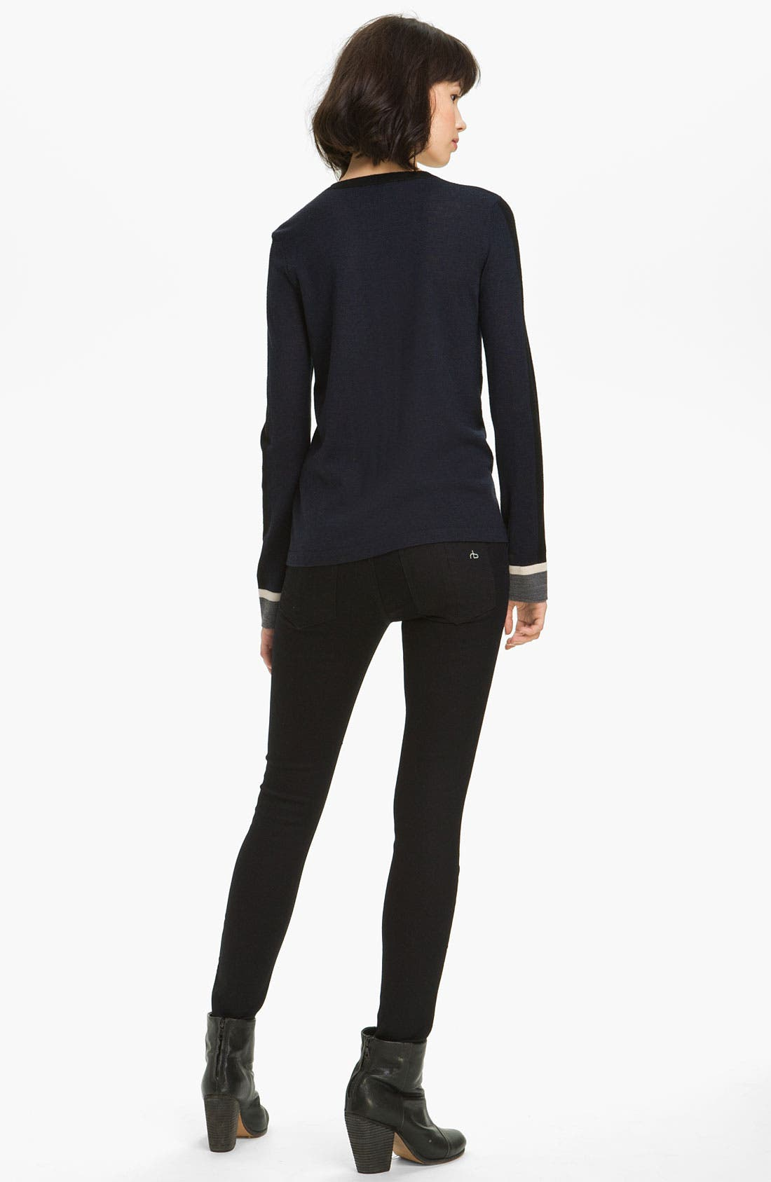 Alternate Image 2  - rag & bone Racing Stripe Pullover