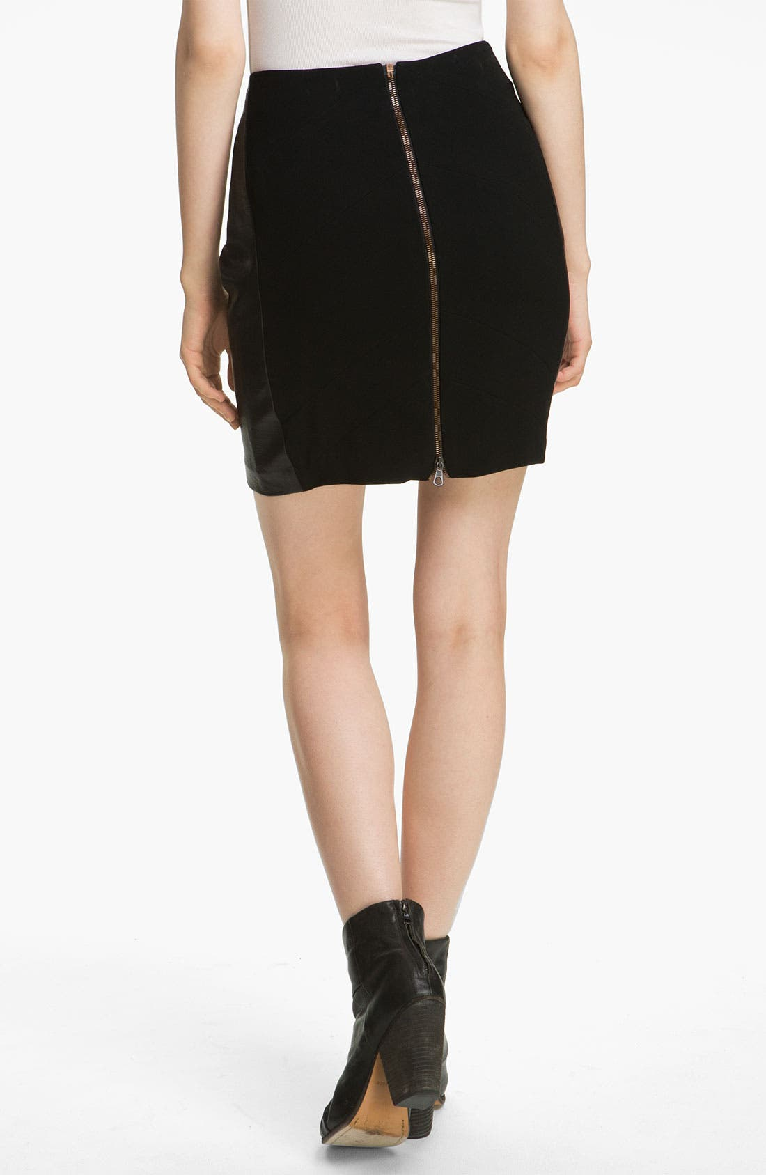 Alternate Image 2  - rag & bone 'Vanhi' Leather Panel Skirt