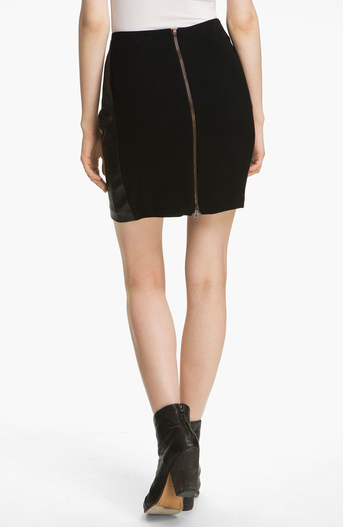 Alternate Image 2  - rag & bone 'Vanhi' Leather Panel Skirt