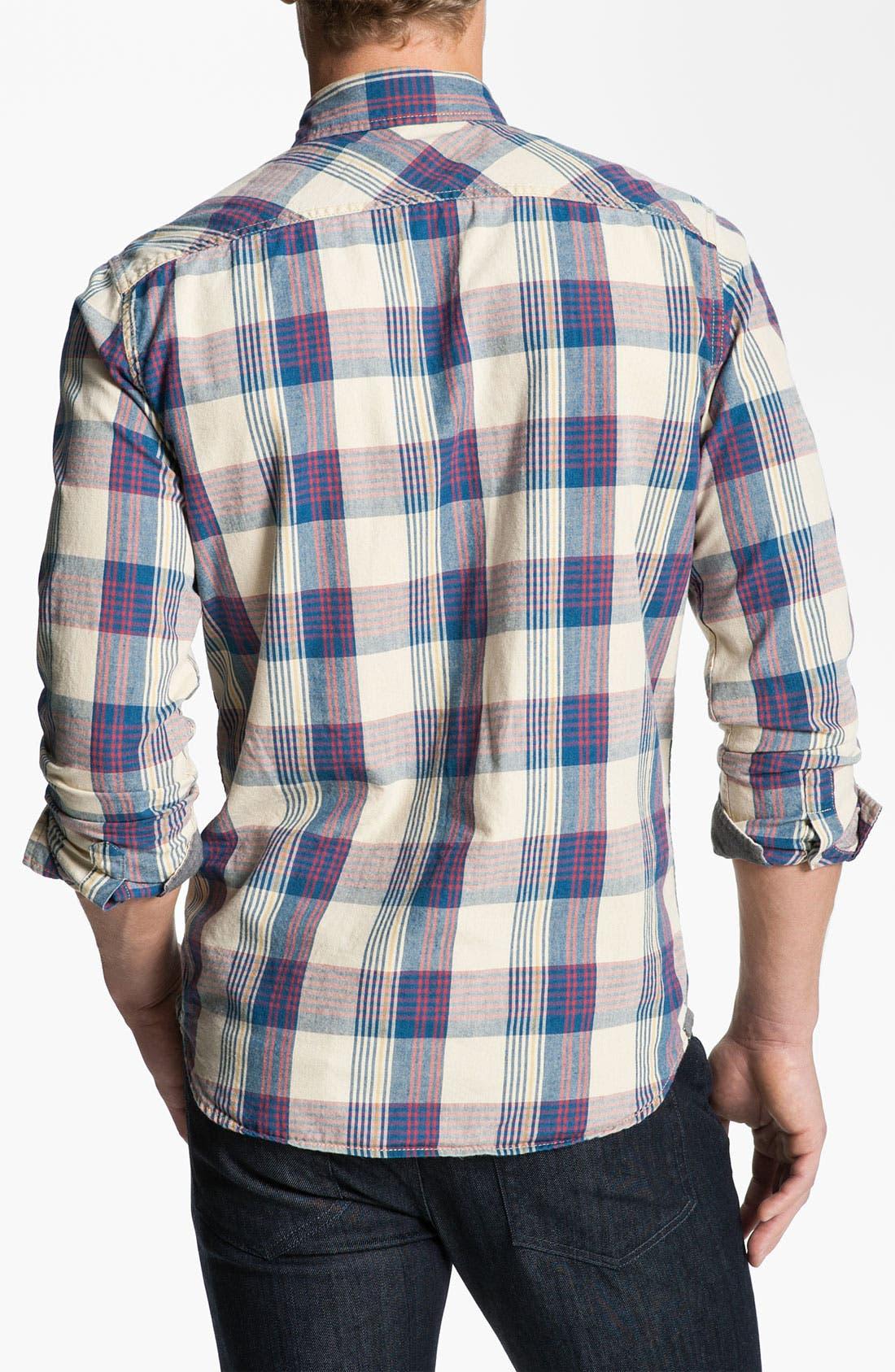 Alternate Image 2  - Just A Cheap Shirt Plaid Woven Shirt
