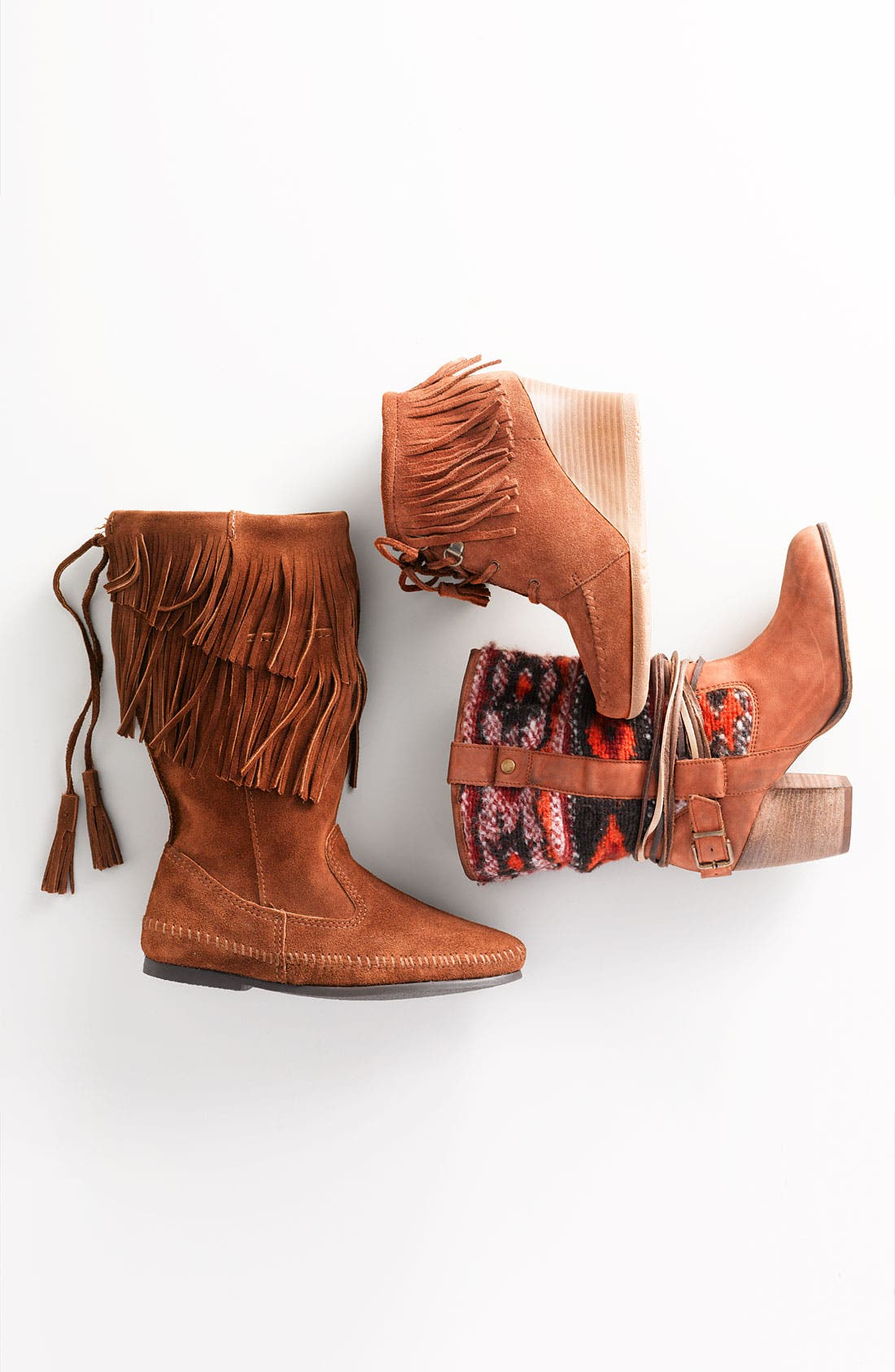 Alternate Image 5  - Minnetonka Lace-Up Fringe Ankle Boot