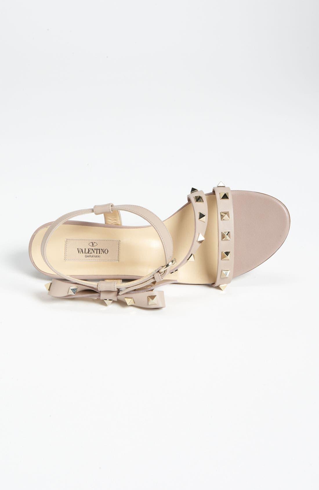 Alternate Image 2  - Valentino 'Rockstud' Bow Flat Sandal