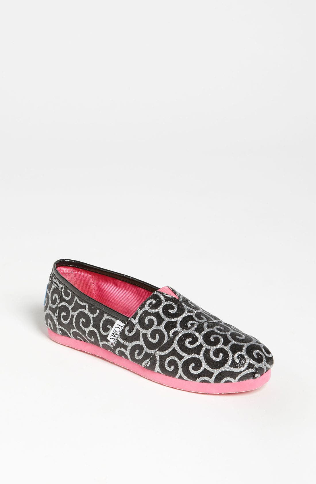 Main Image - TOMS 'Classic Youth - Glitter' Slip-On (Toddler, Little Kid & Big Kid)