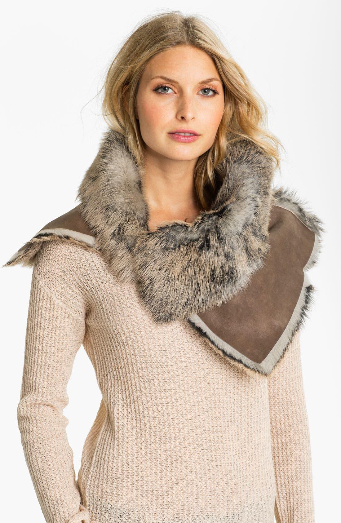 Main Image - UGG® Australia 'Foxley' Shearling Collar Scarf
