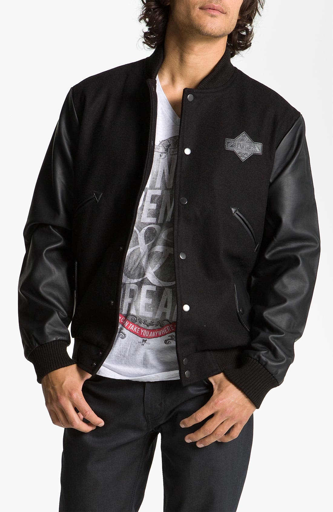 Alternate Image 1 Selected - Lira Clothing Wool Blend Varsity Jacket