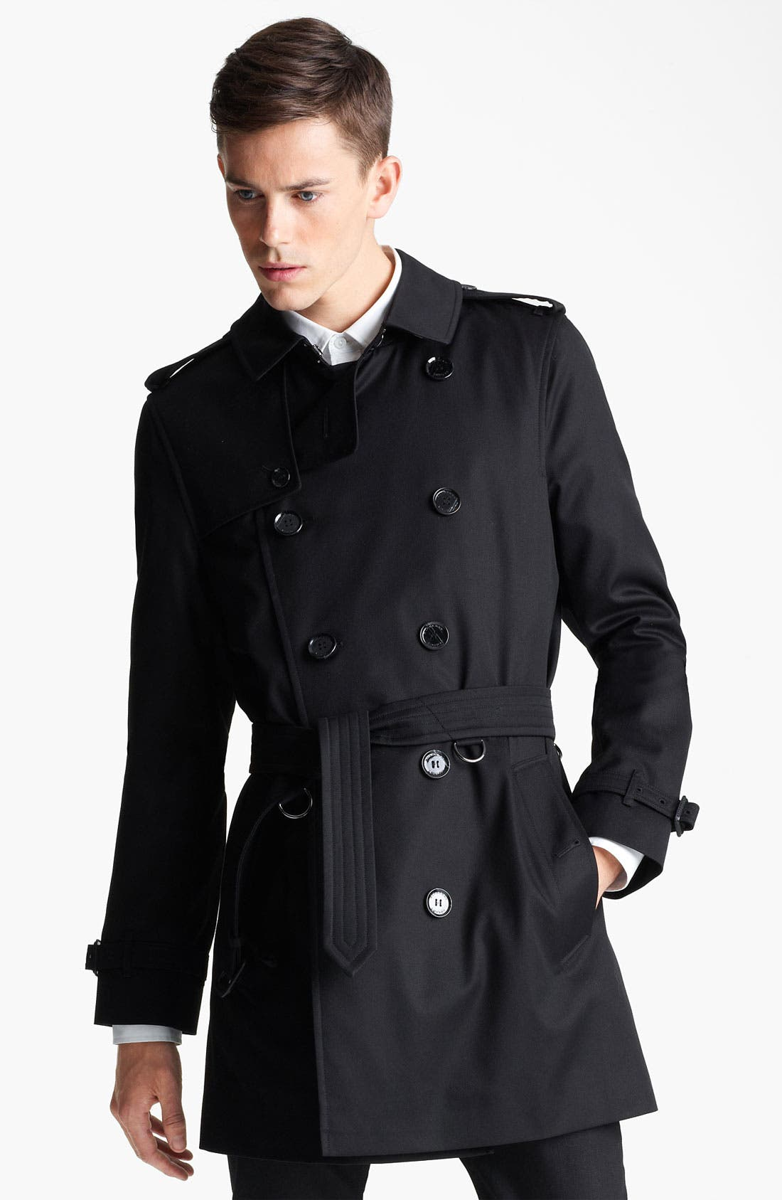 Alternate Image 1 Selected - Burberry London 'Britton' Double Breasted Trench Coat