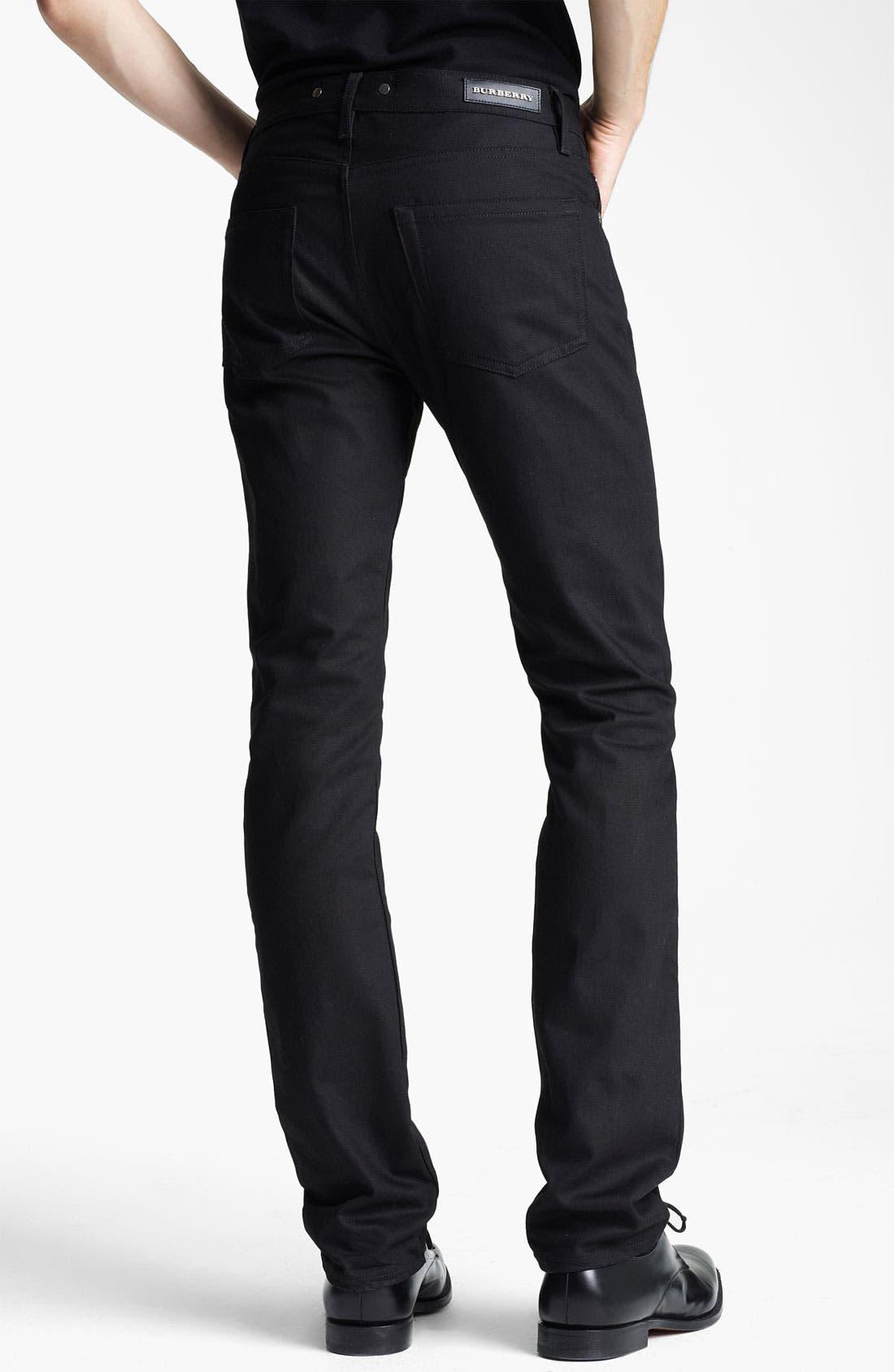 Alternate Image 2  - Burberry London Steadman Fit Straight Leg Jeans (Black Wash)