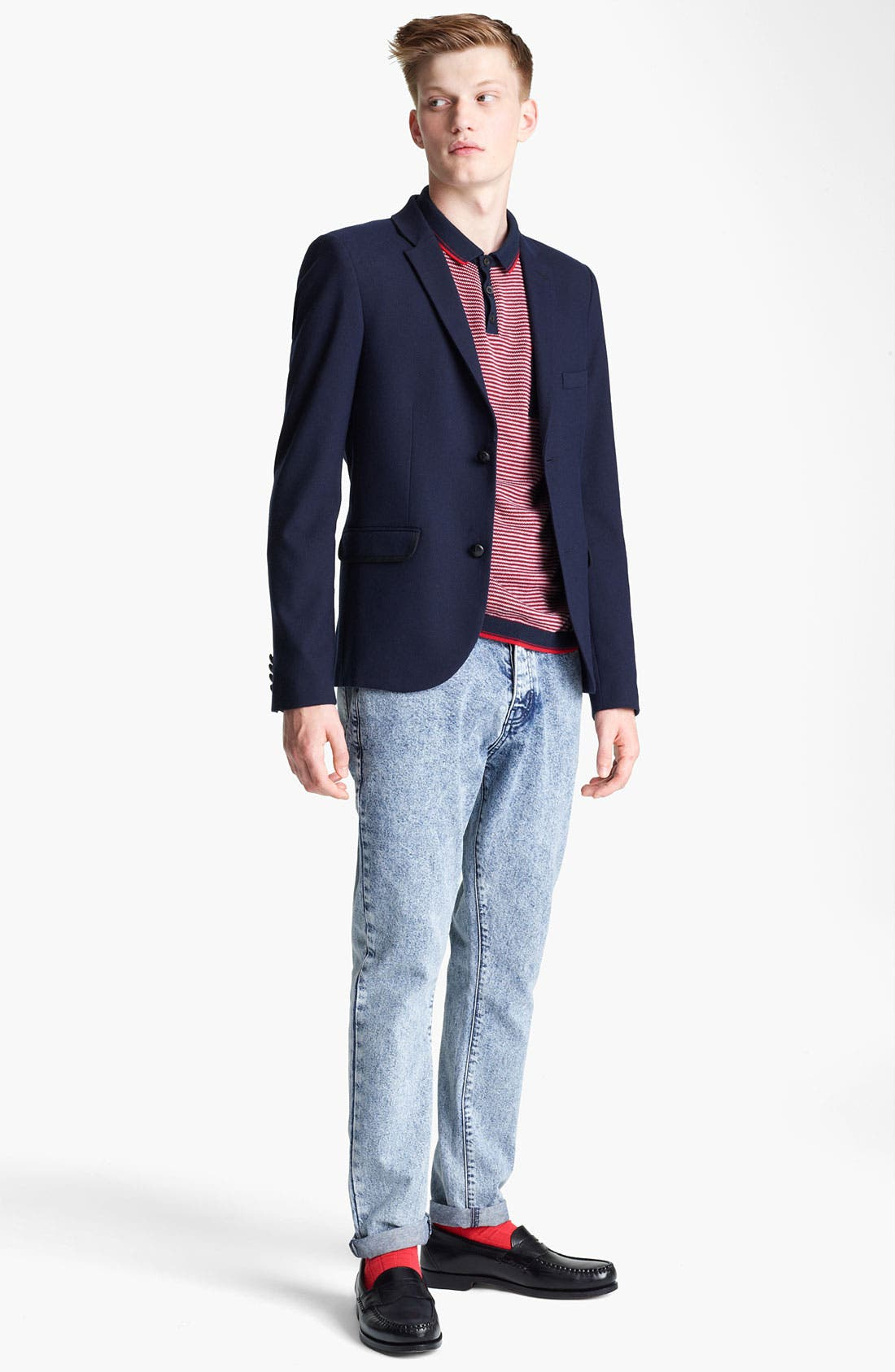 Alternate Image 4  - Topman Heritage Fit Herringbone Blazer
