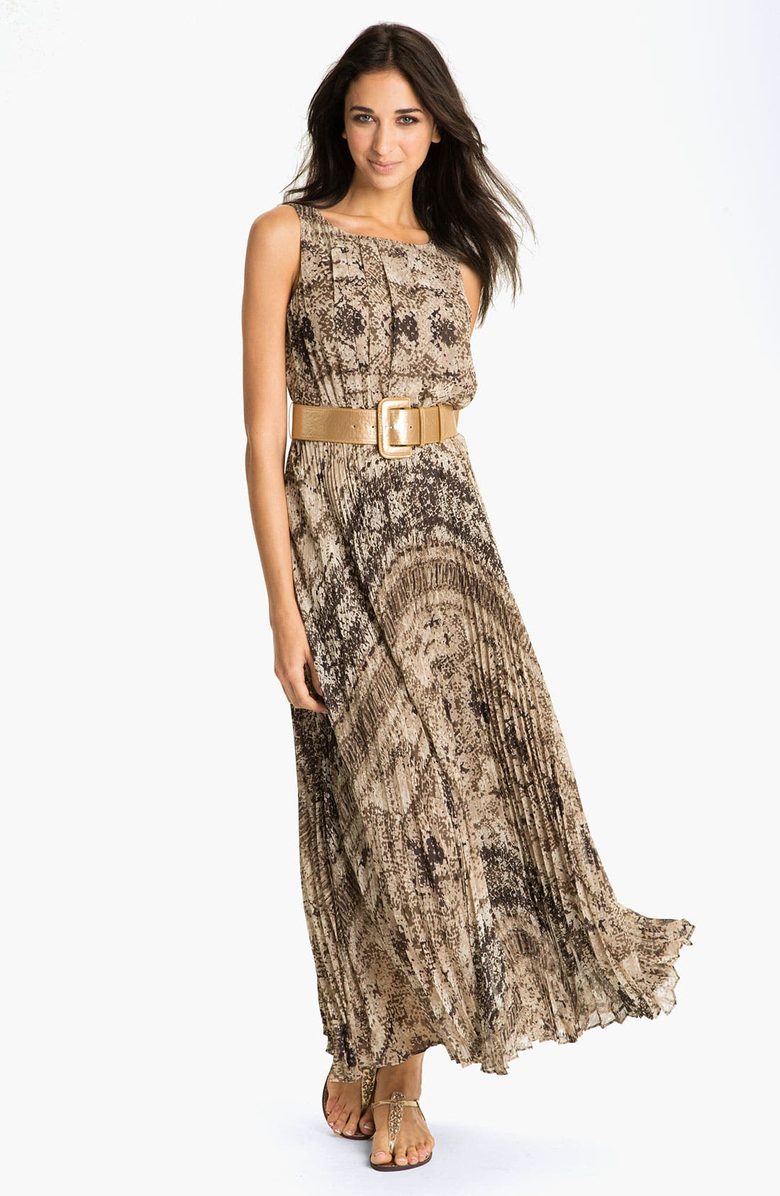 Alternate Image 1 Selected - Eliza J Snakeskin Snake Print Maxi Dress