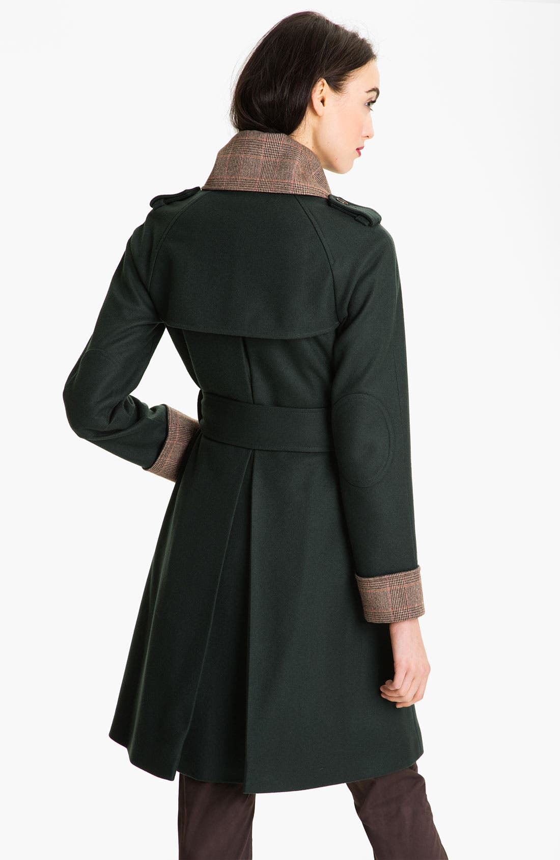 Alternate Image 2  - Ted Baker London Plaid Trim Wrap Coat