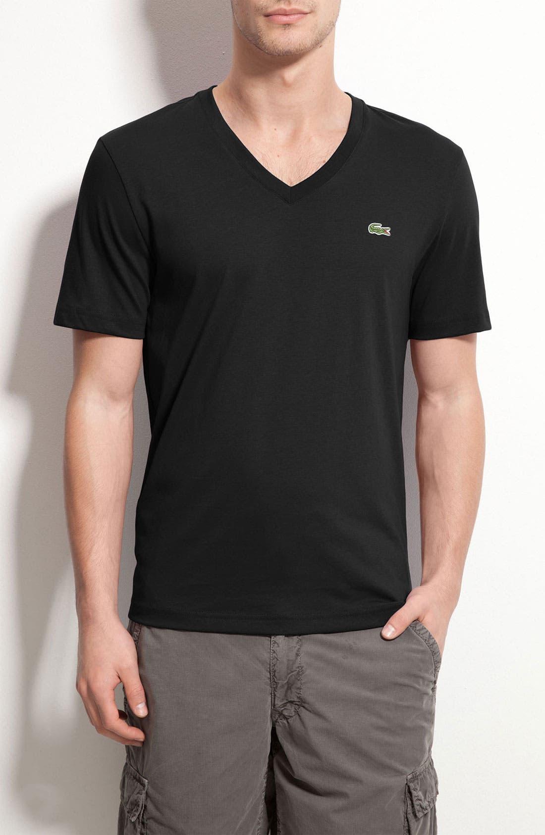 Alternate Image 1 Selected - Lacoste L!VE Trim Fit Jersey V-Neck T-Shirt