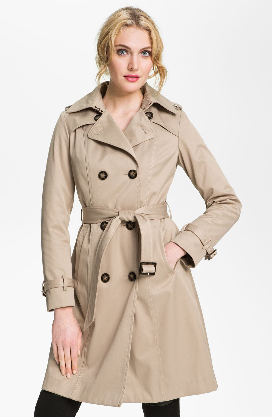 Alternate Image 1  - Dawn Levy Trench Coat with Detachable Liner