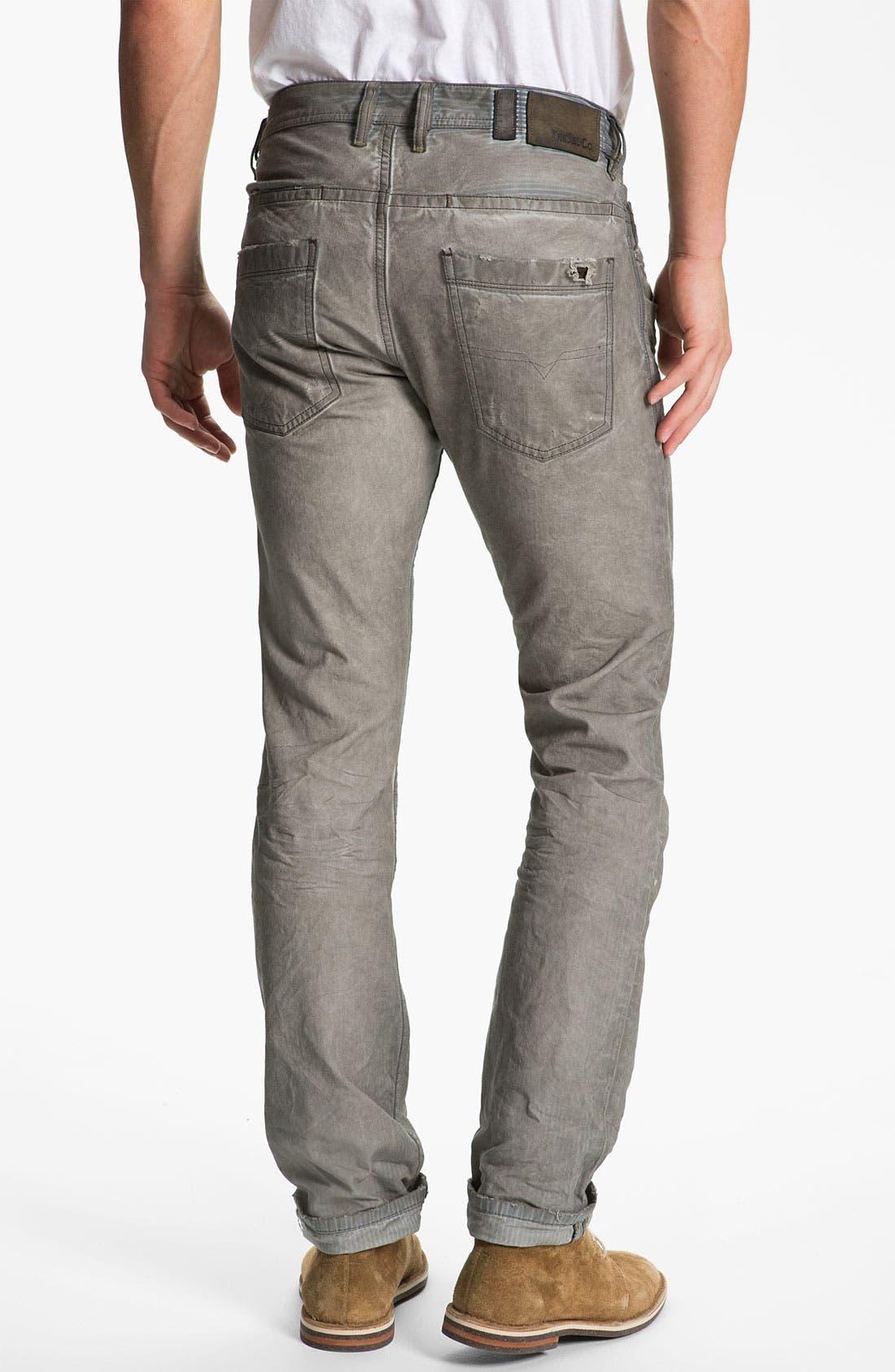 Main Image - DIESEL® 'Braddom' Slim Tapered Leg Jeans (Chocolate Grey)